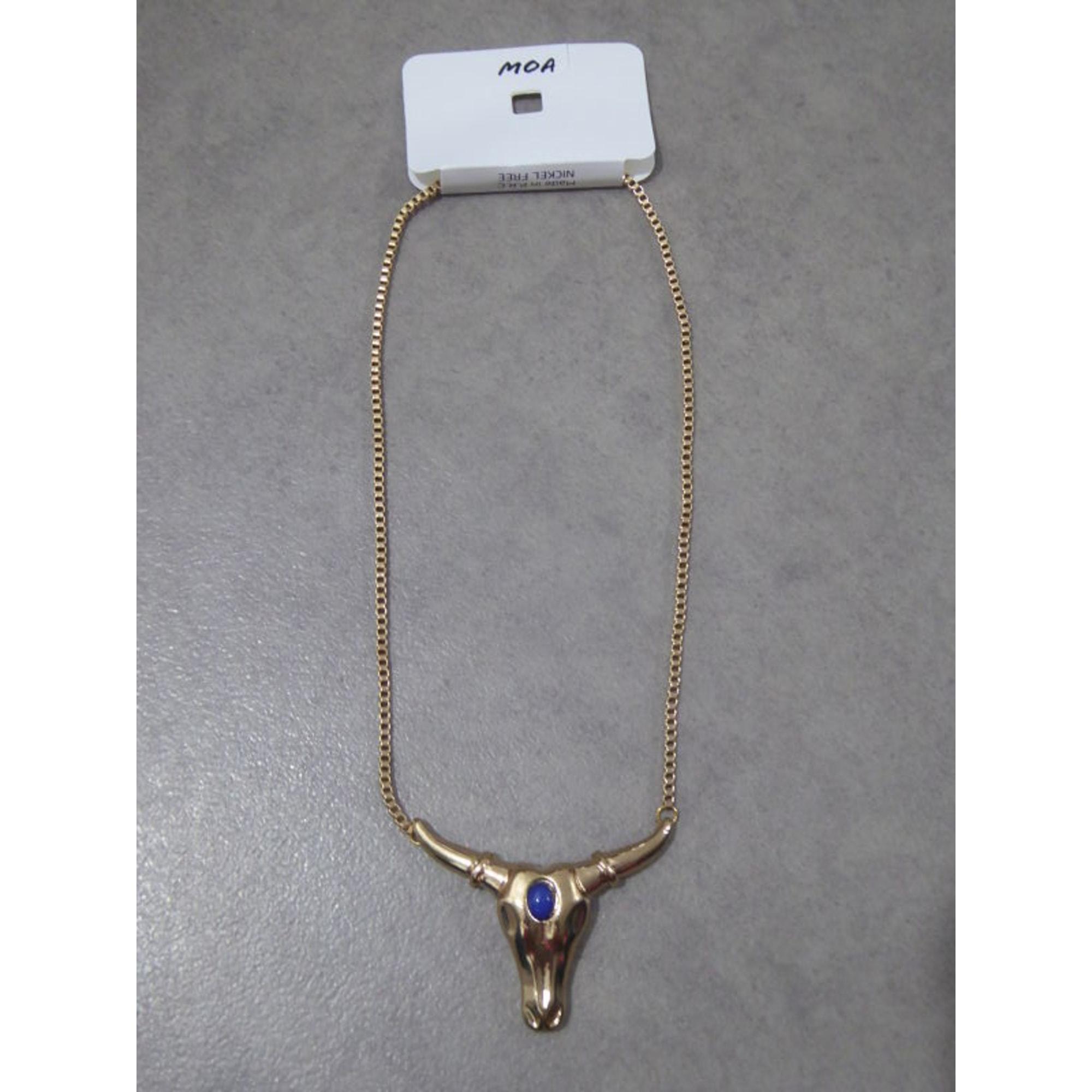 Collier MOA Doré, bronze, cuivre