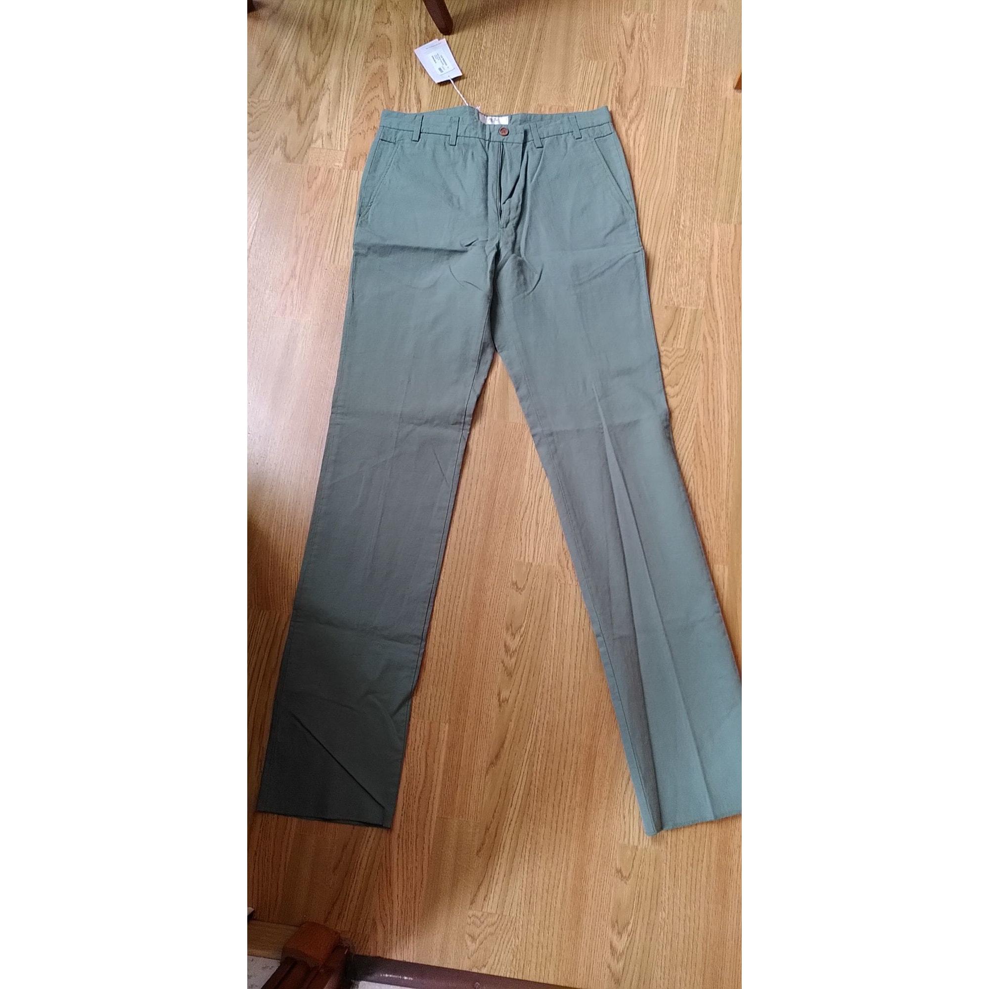 Pantalon droit MELINDA GLOSS Vert