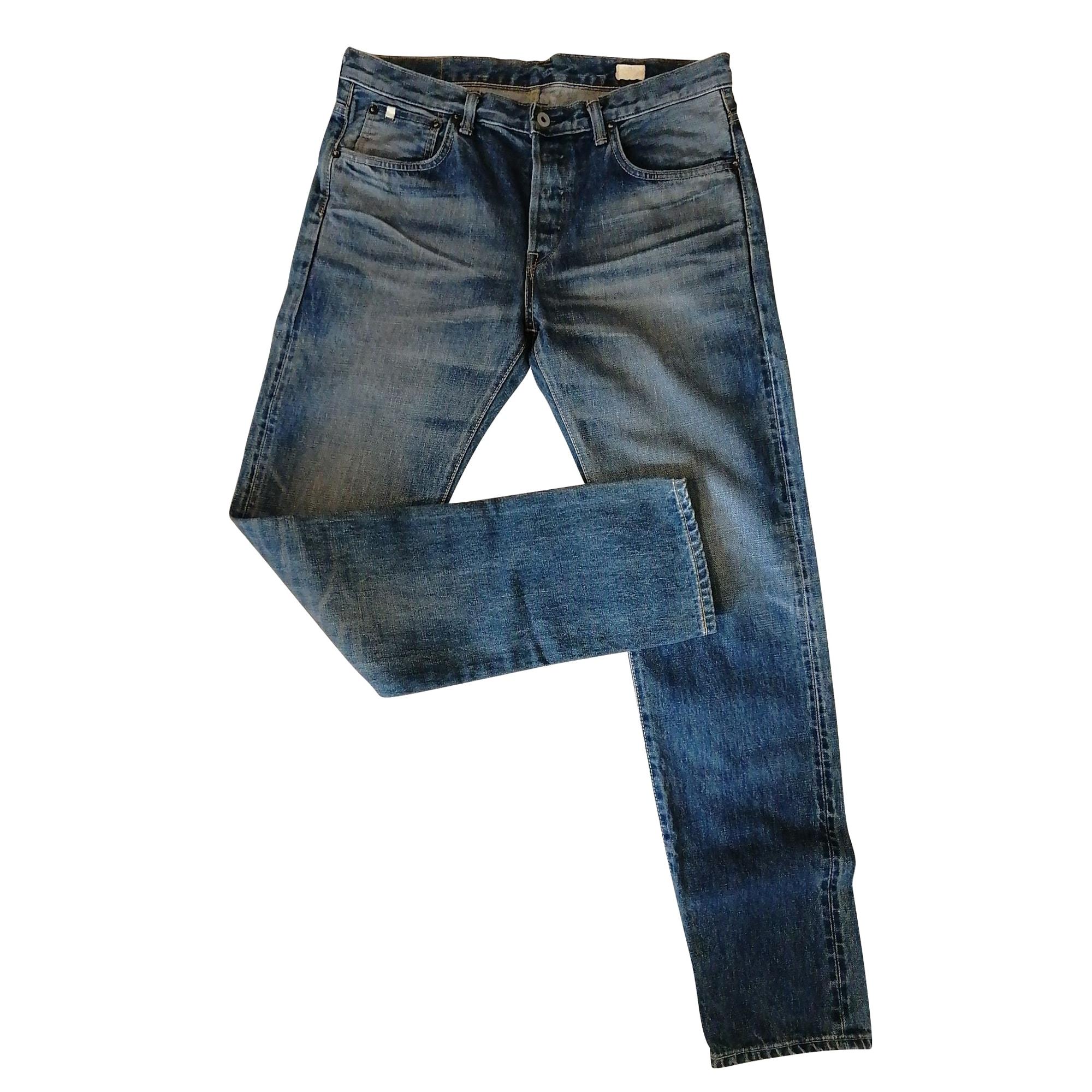Jeans droit EDWIN Bleu, bleu marine, bleu turquoise