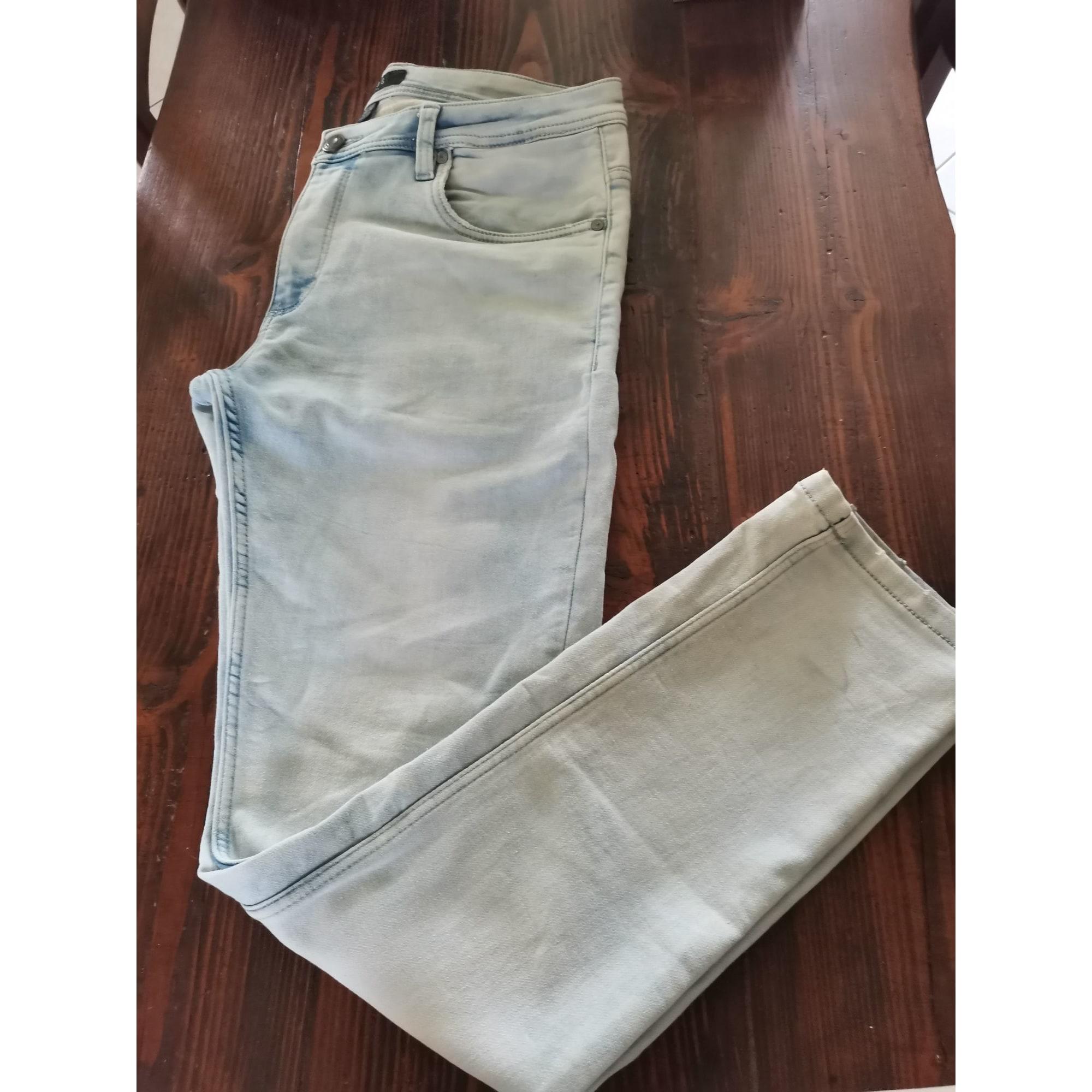 Jeans slim SMOG Bleu, bleu marine, bleu turquoise