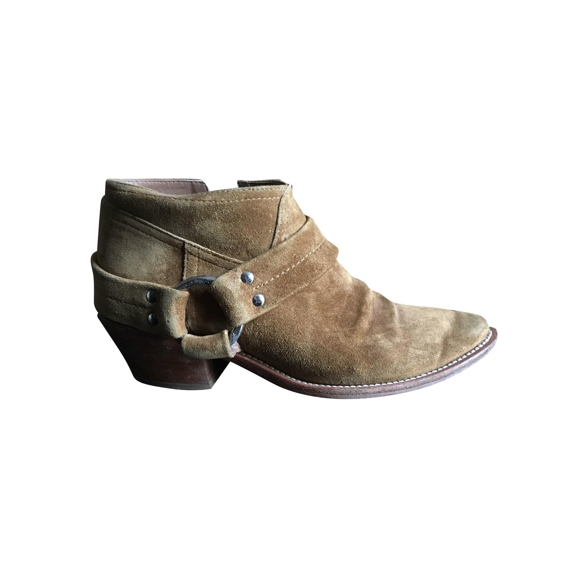 Santiags, bottines, low boots cowboy GOLDEN GOOSE Beige, camel