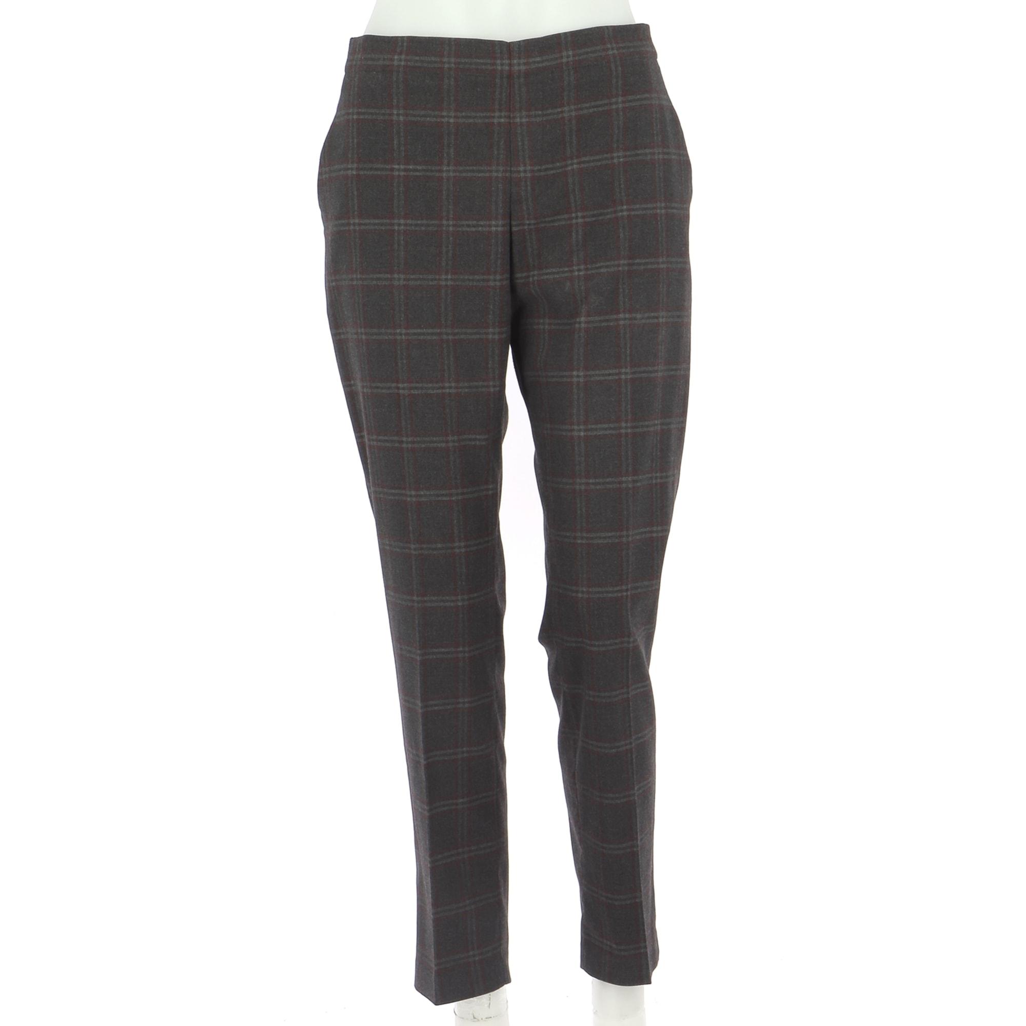Pantalon droit UNIQLO Gris, anthracite