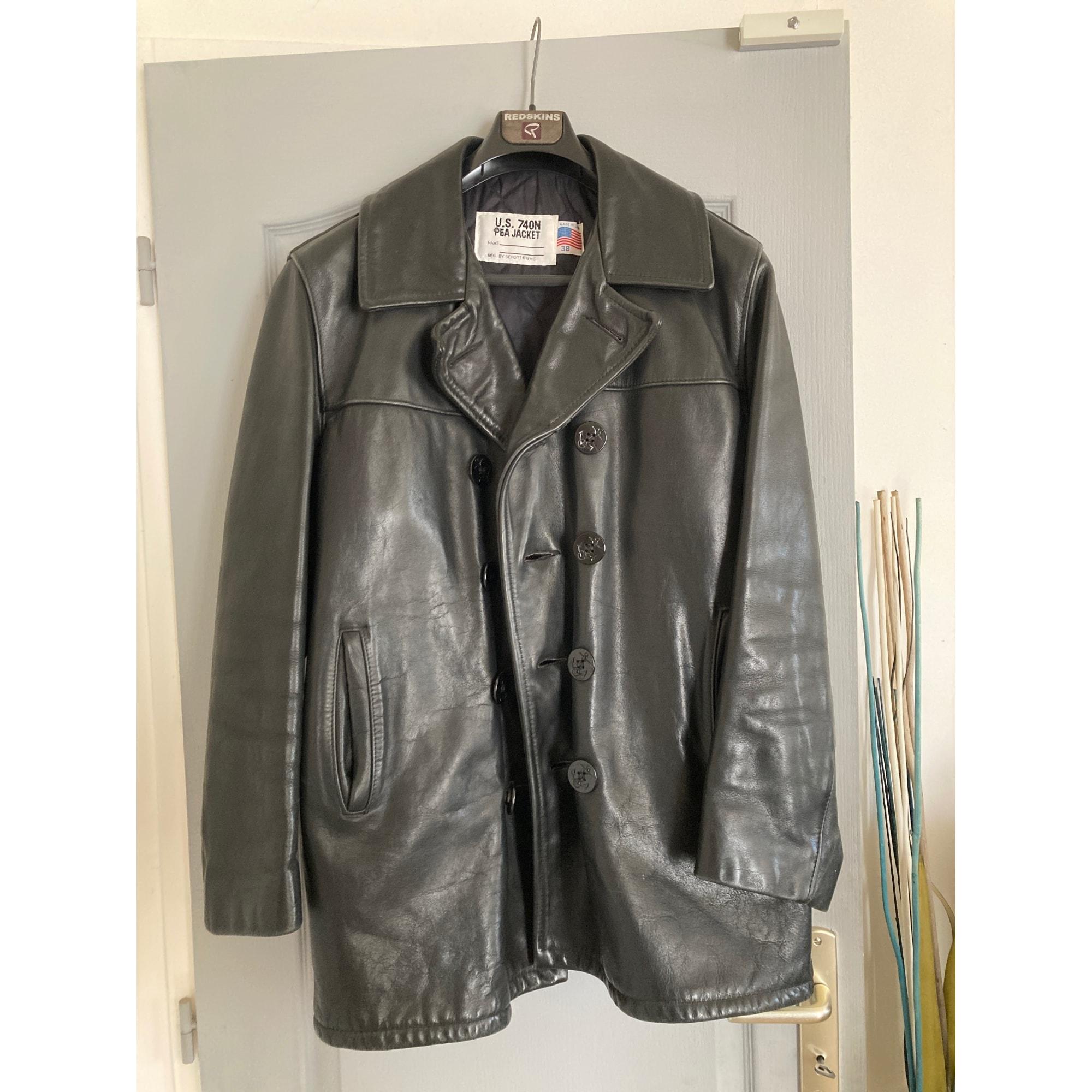 Leather Coat SCHOTT Black