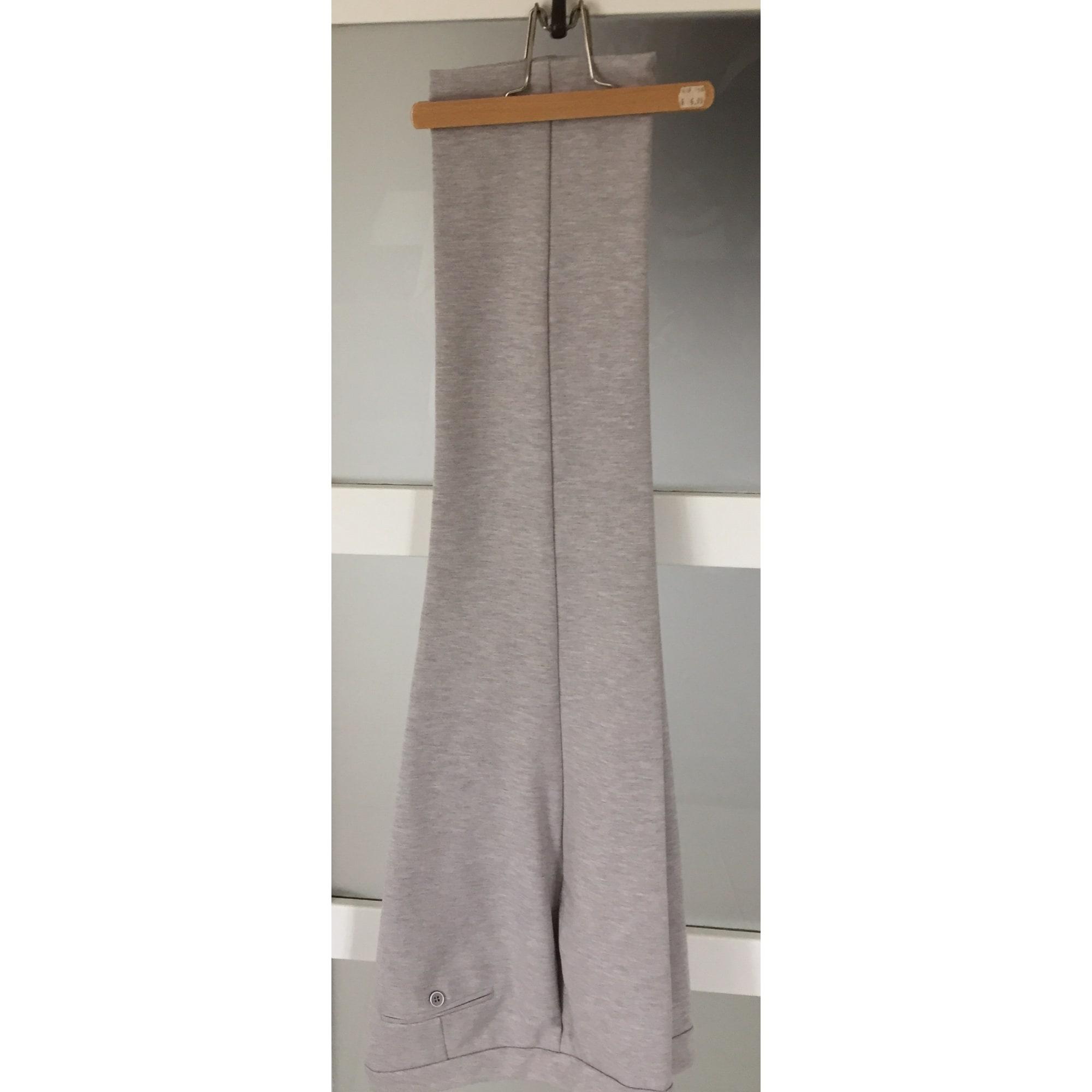 Pantalon droit PETER HAHN Gris, anthracite