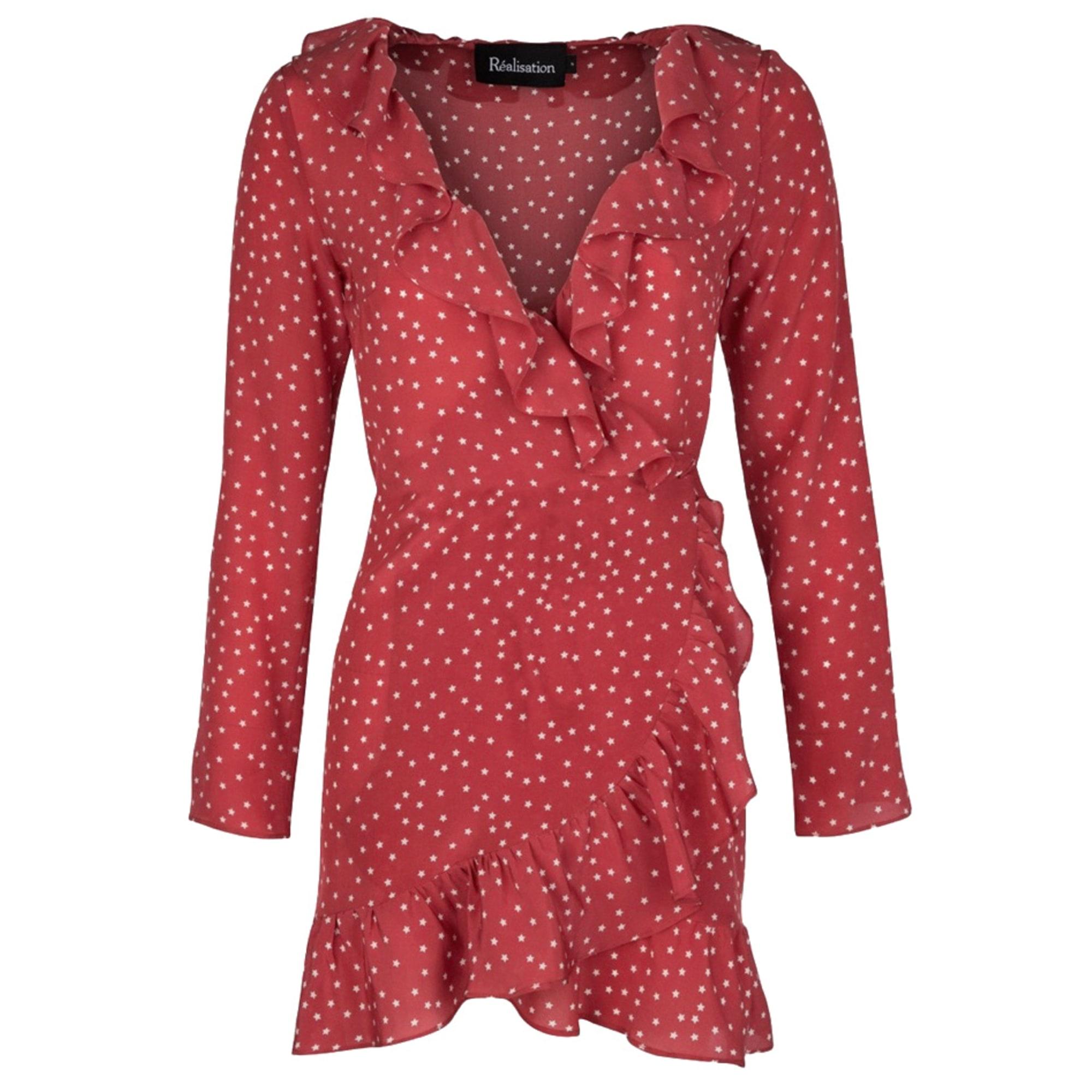 Robe courte RÉALISATION PAR Rouge, bordeaux