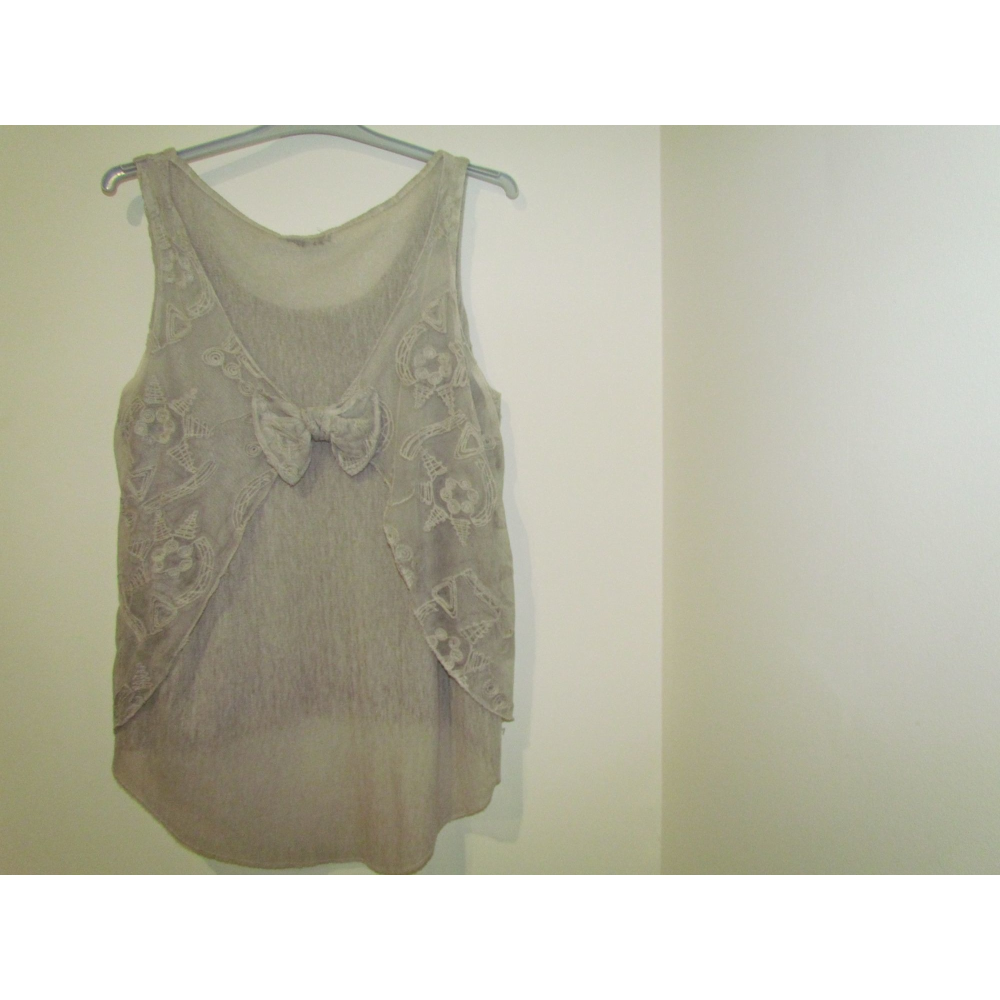 Top, tee-shirt MADE IN ITALY Beige, camel