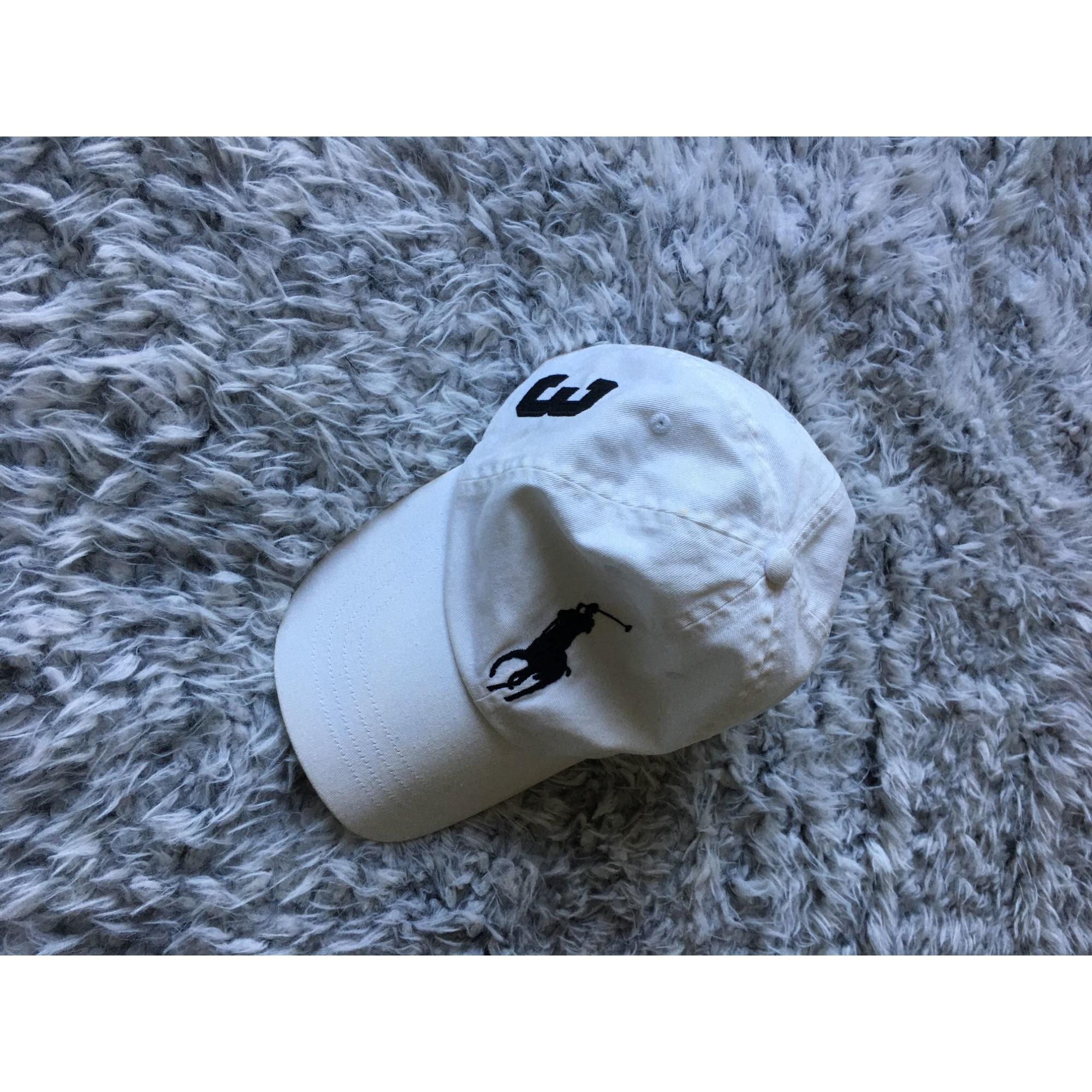 Casquette RALPH LAUREN Blanc, blanc cassé, écru