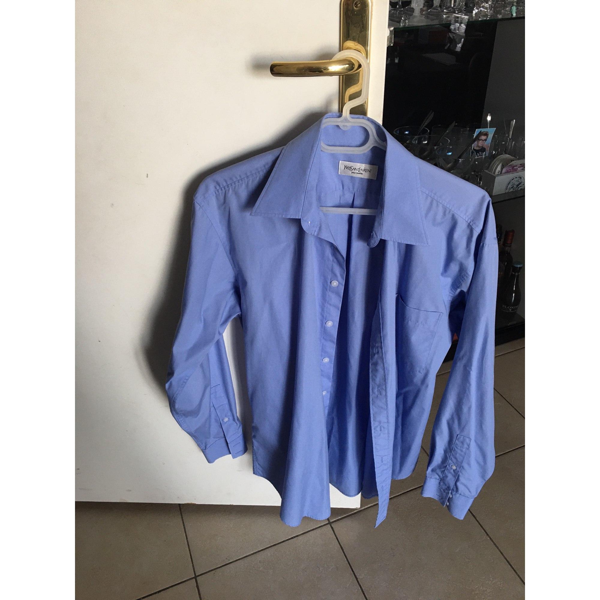 Chemise YVES SAINT LAURENT Bleu, bleu marine, bleu turquoise