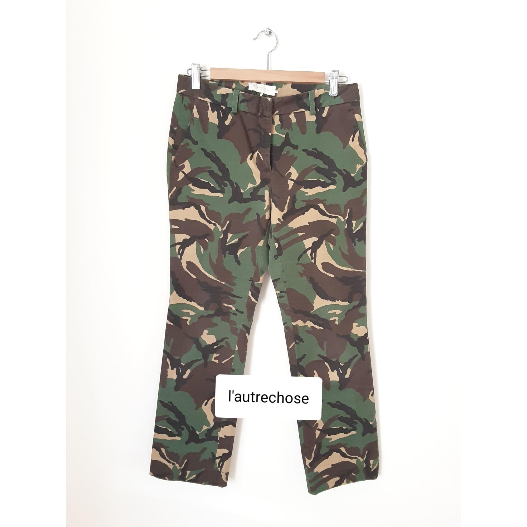 Pantalon droit L'AUTRE CHOSE Multicouleur