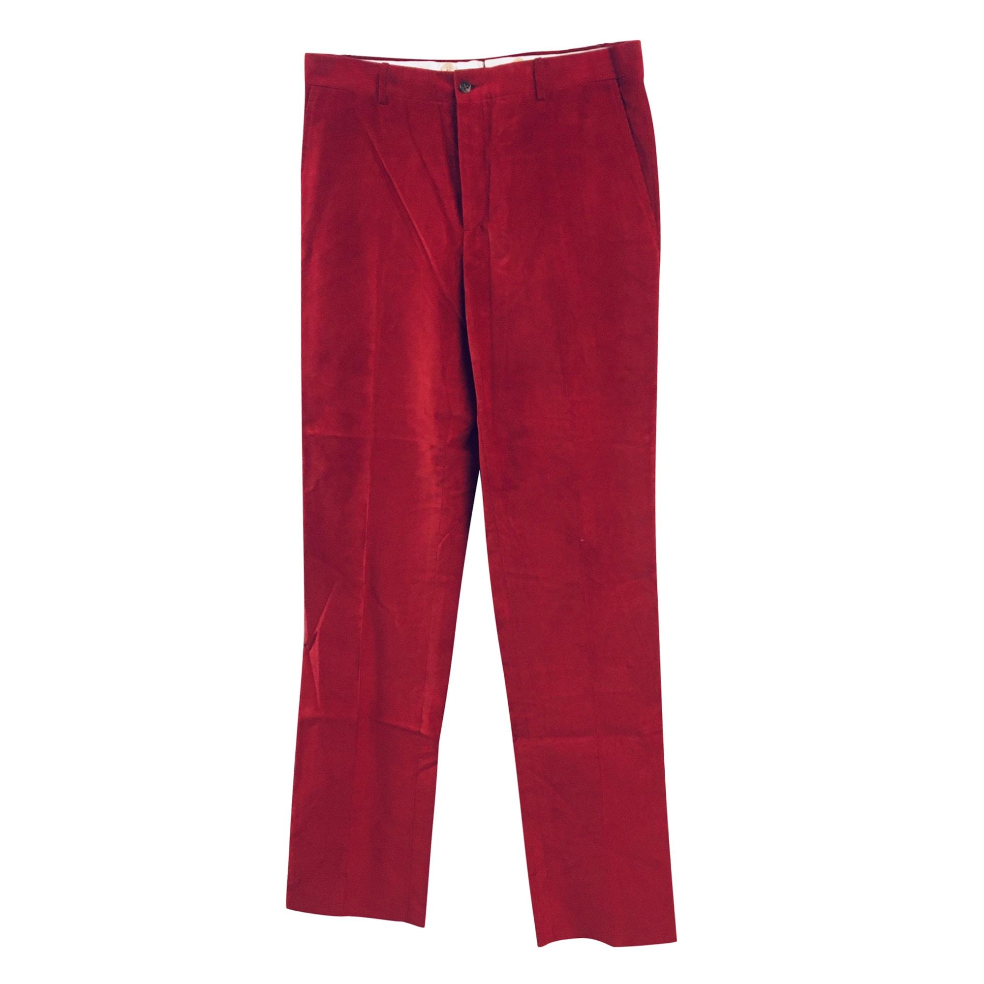 Straight Leg Pants RALPH LAUREN Red, burgundy