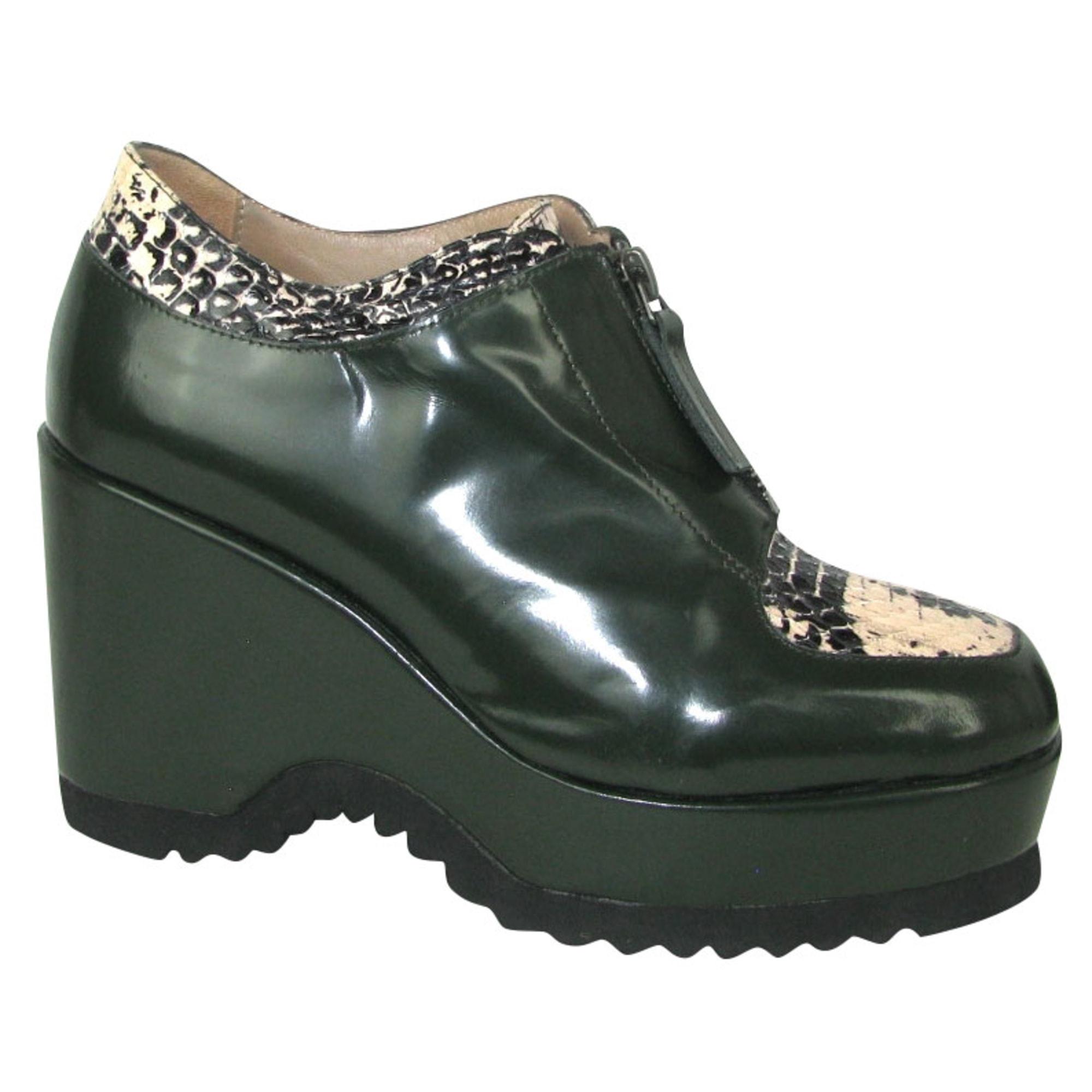 Bottines & low boots à compensés STEPHANE KÉLIAN Vert