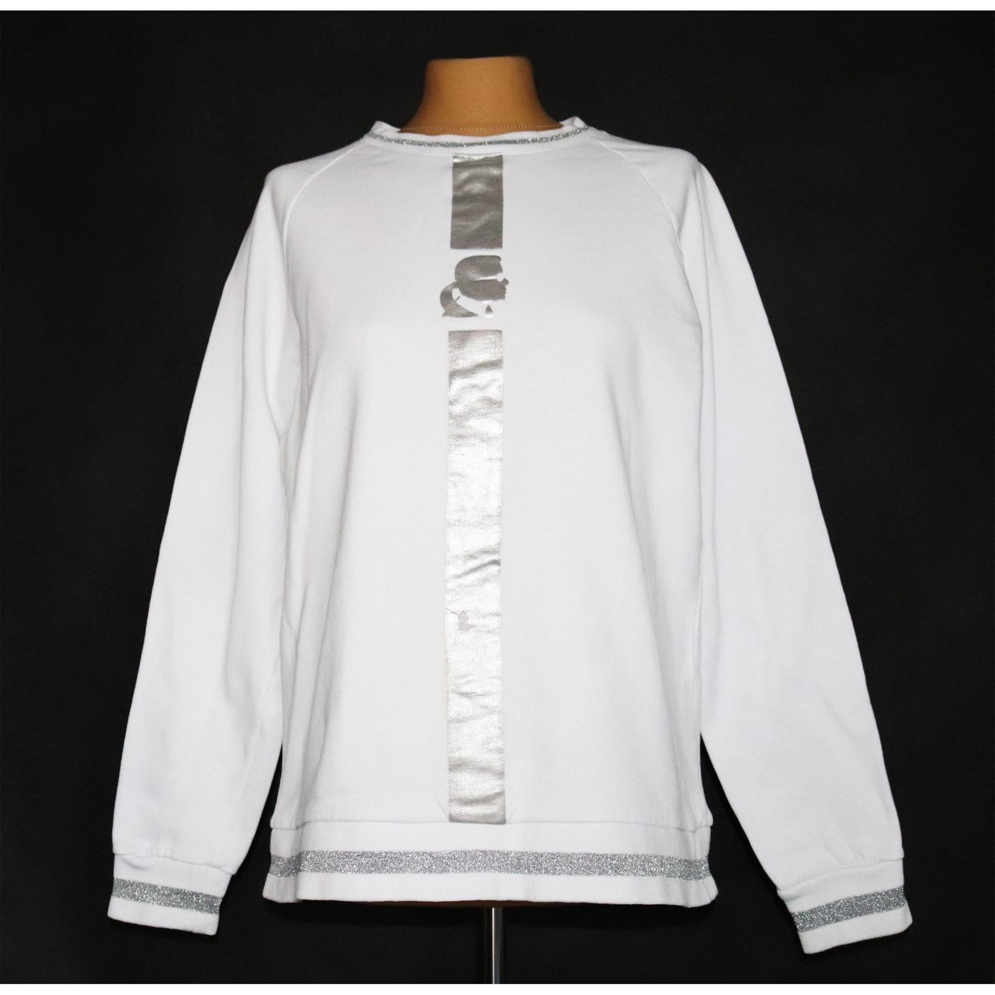 Sweat KARL LAGERFELD Blanc, blanc cassé, écru