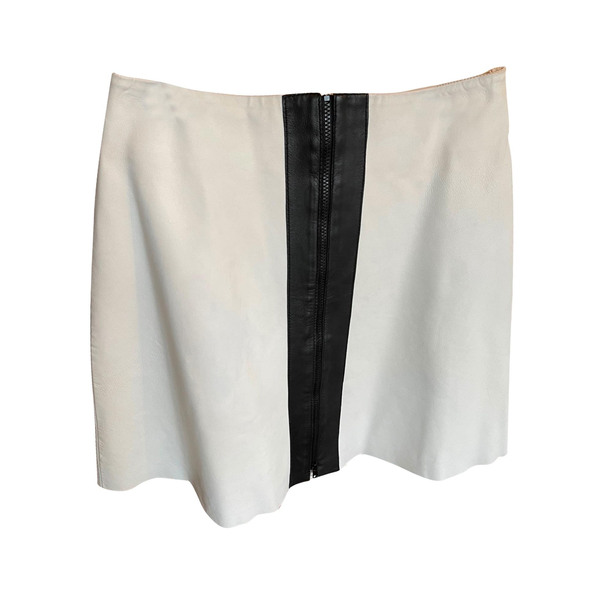 Jupe mi-longue CARVEN Blanc, blanc cassé, écru