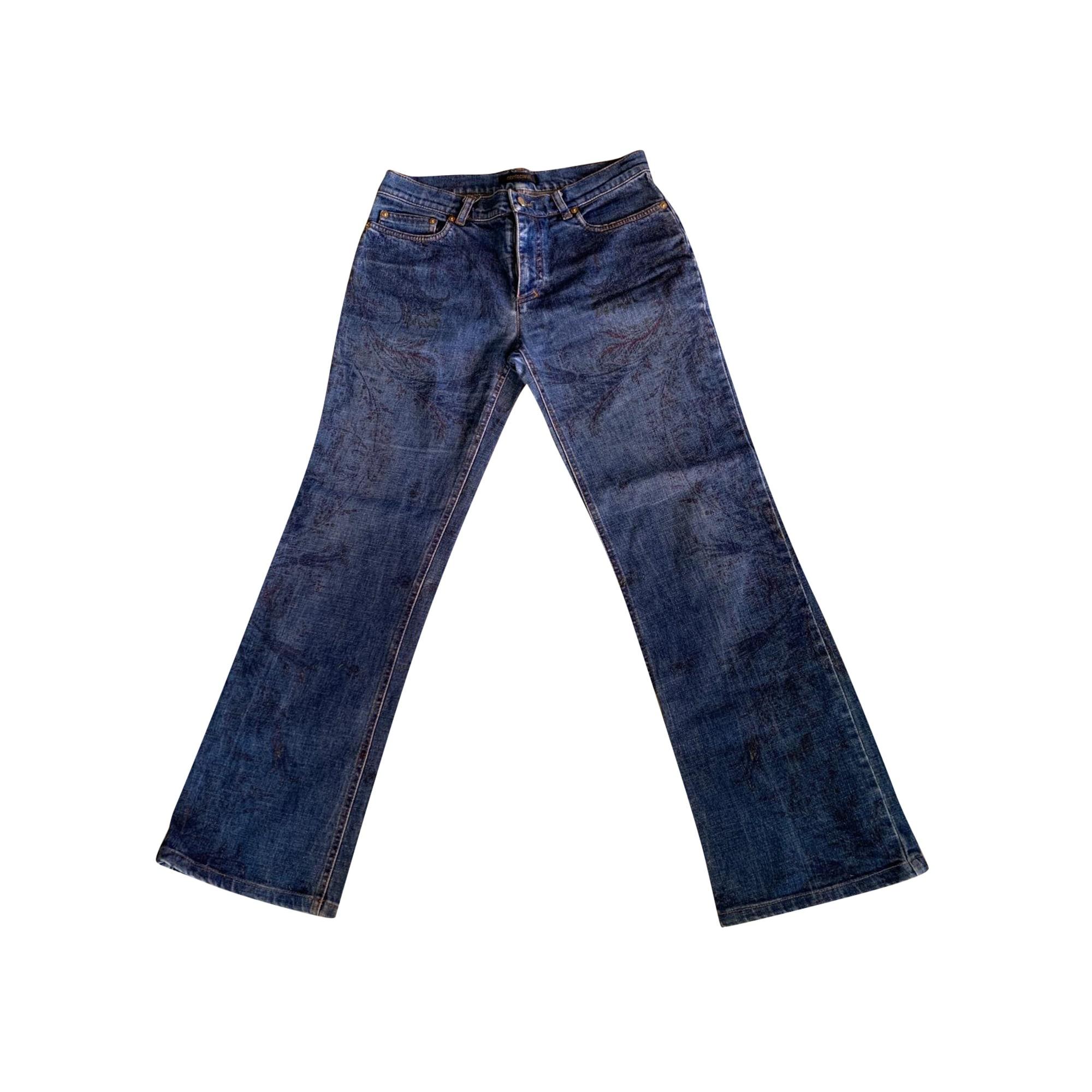 Jeans évasé, boot-cut ROBERTO CAVALLI Bleu, bleu marine, bleu turquoise
