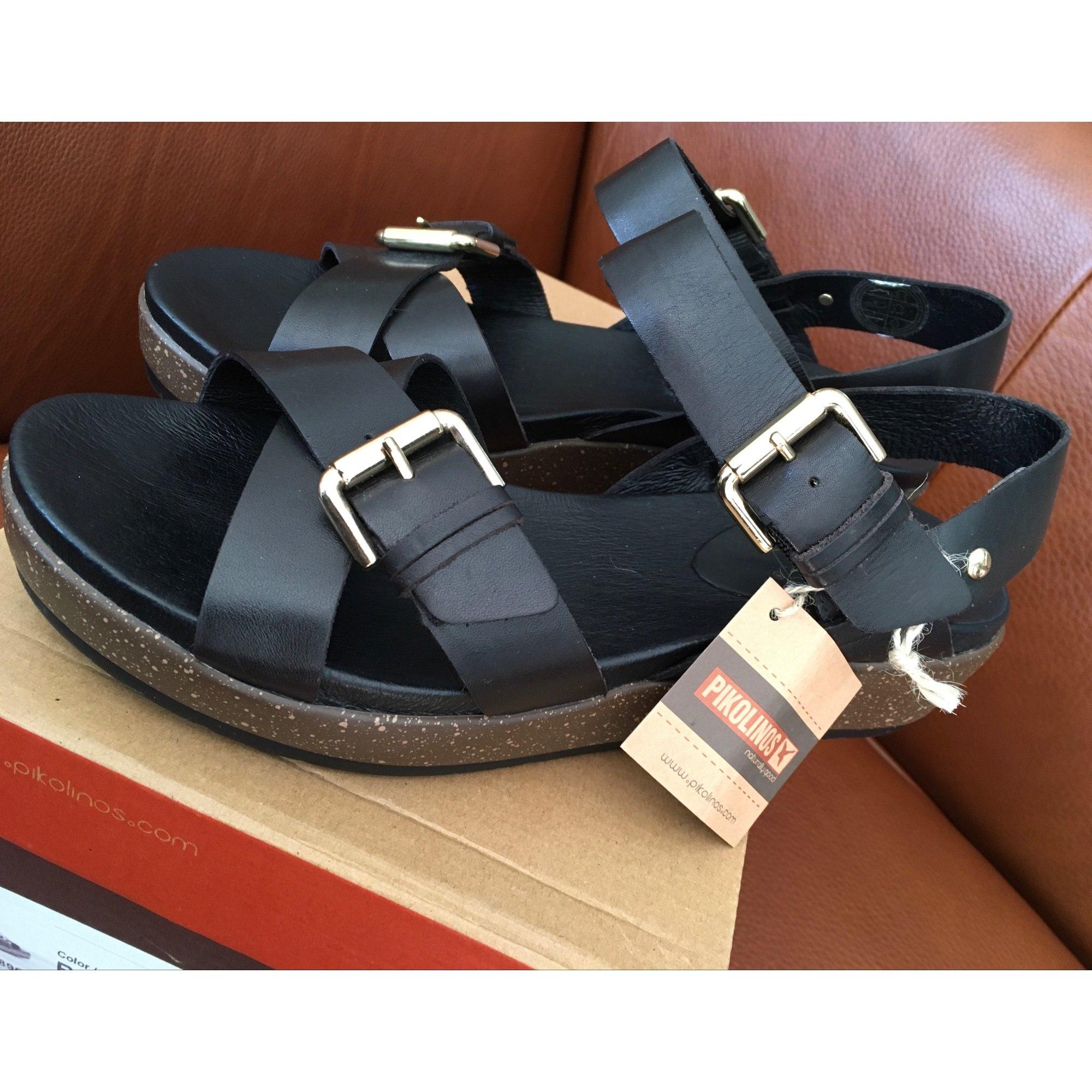 Sandales compensées PIKOLINOS Noir