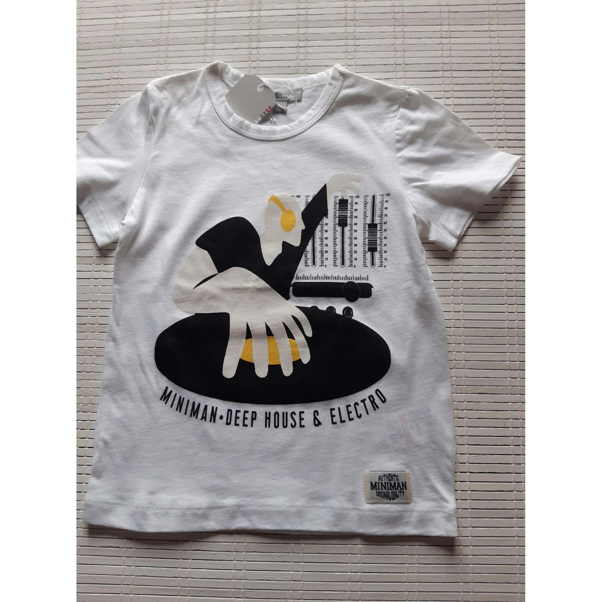 Tee-shirt MINIMAN Blanc, blanc cassé, écru