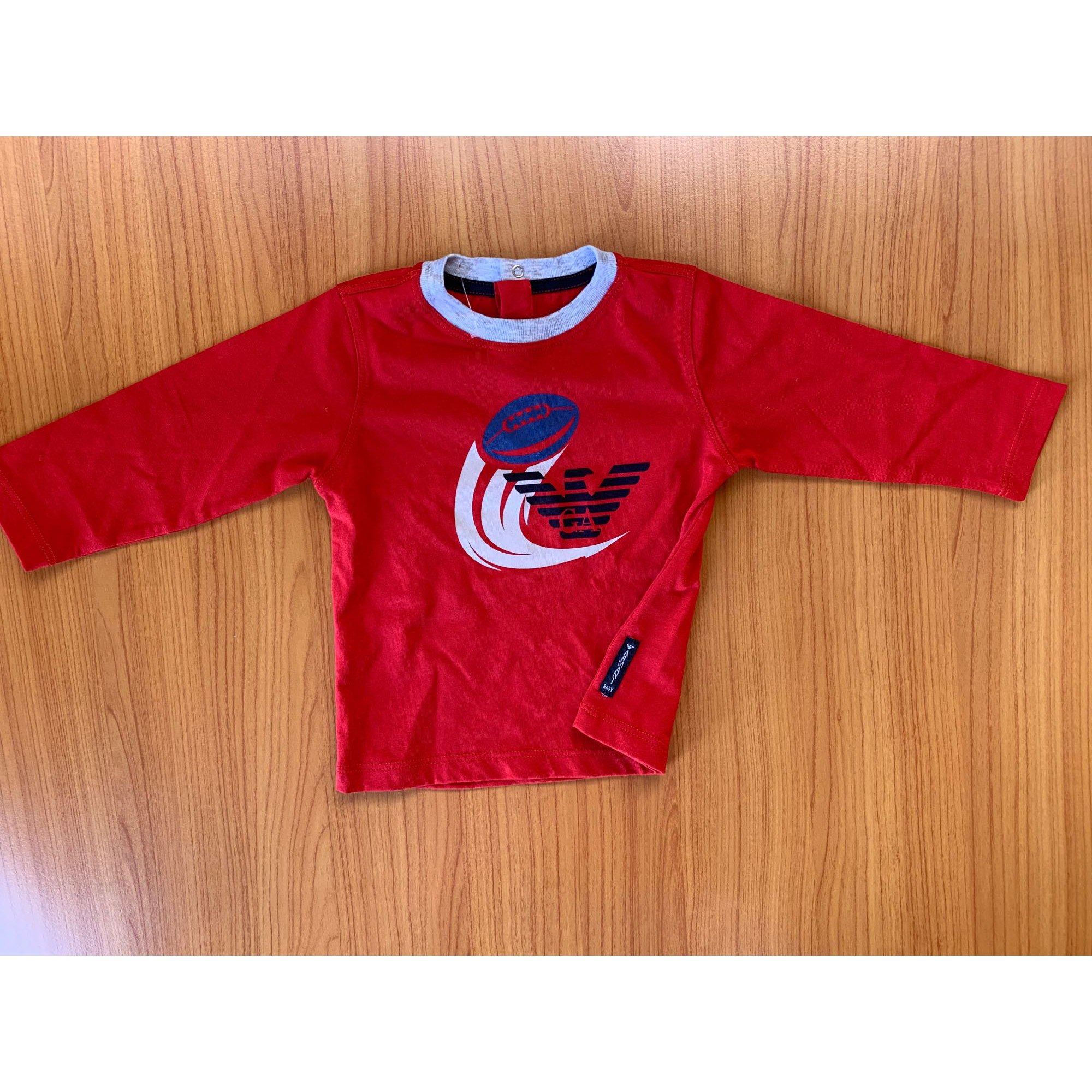 Top, tee shirt ARMANI Rouge, bordeaux