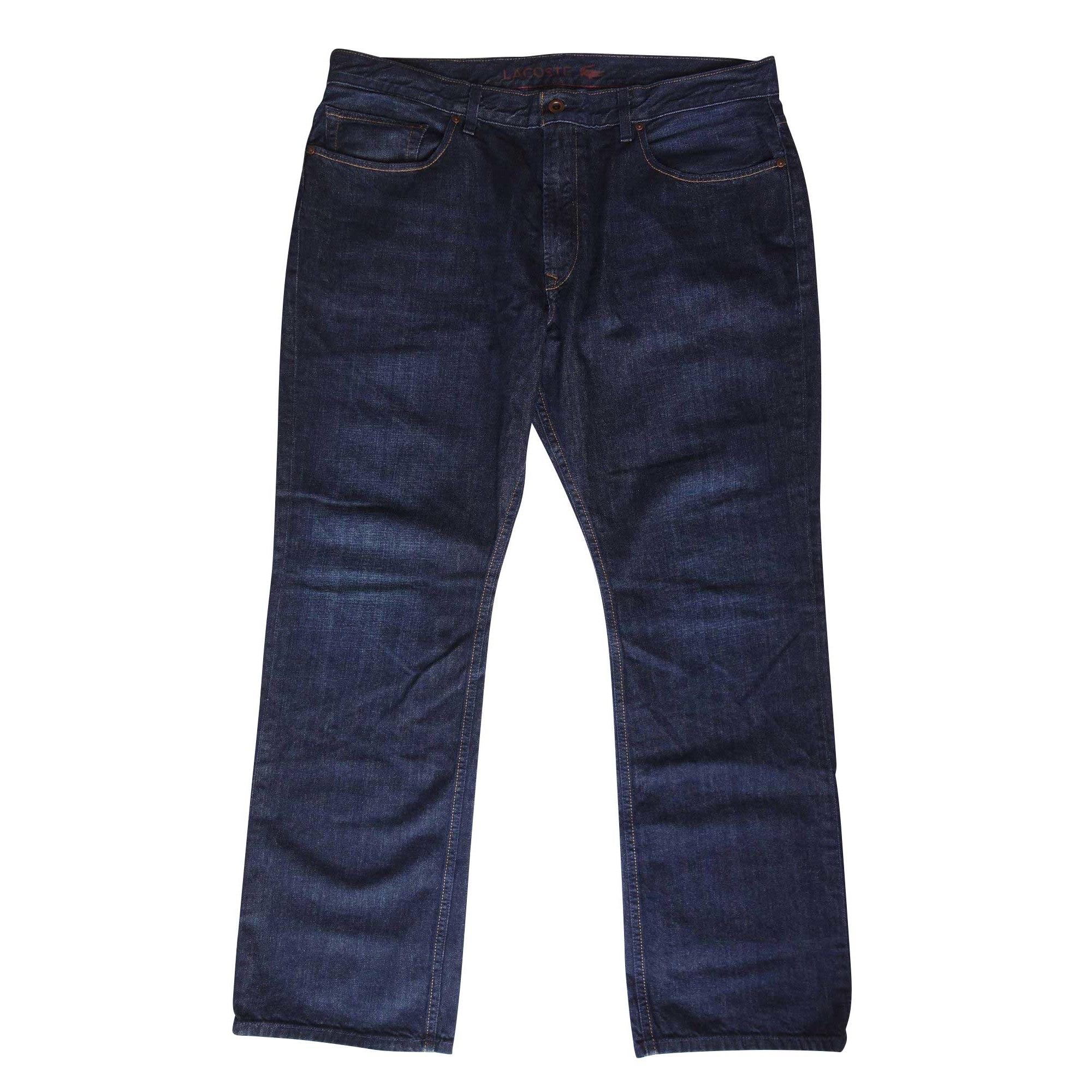 Jeans droit LACOSTE Bleu, bleu marine, bleu turquoise