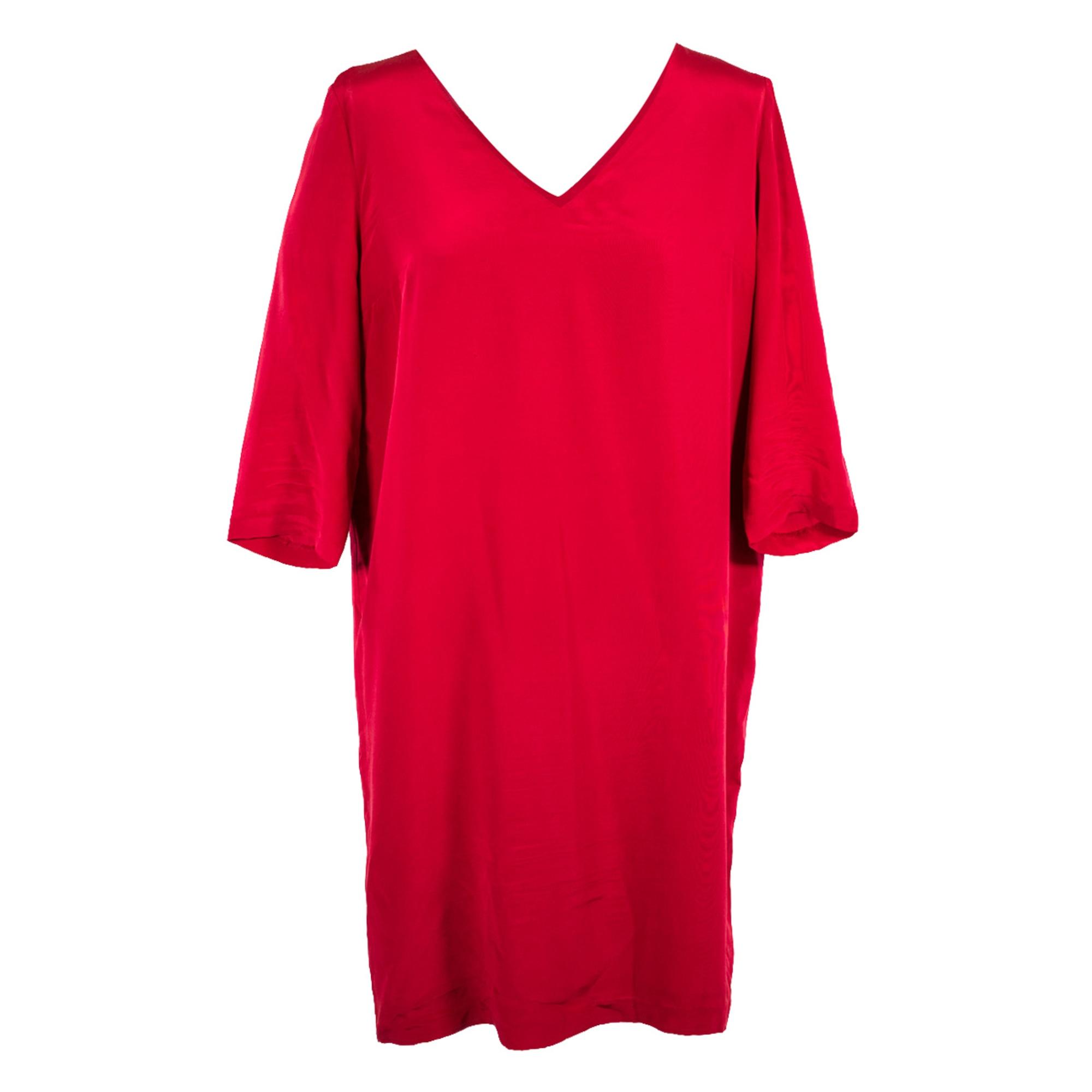 Robe courte BEL AIR Rouge, bordeaux