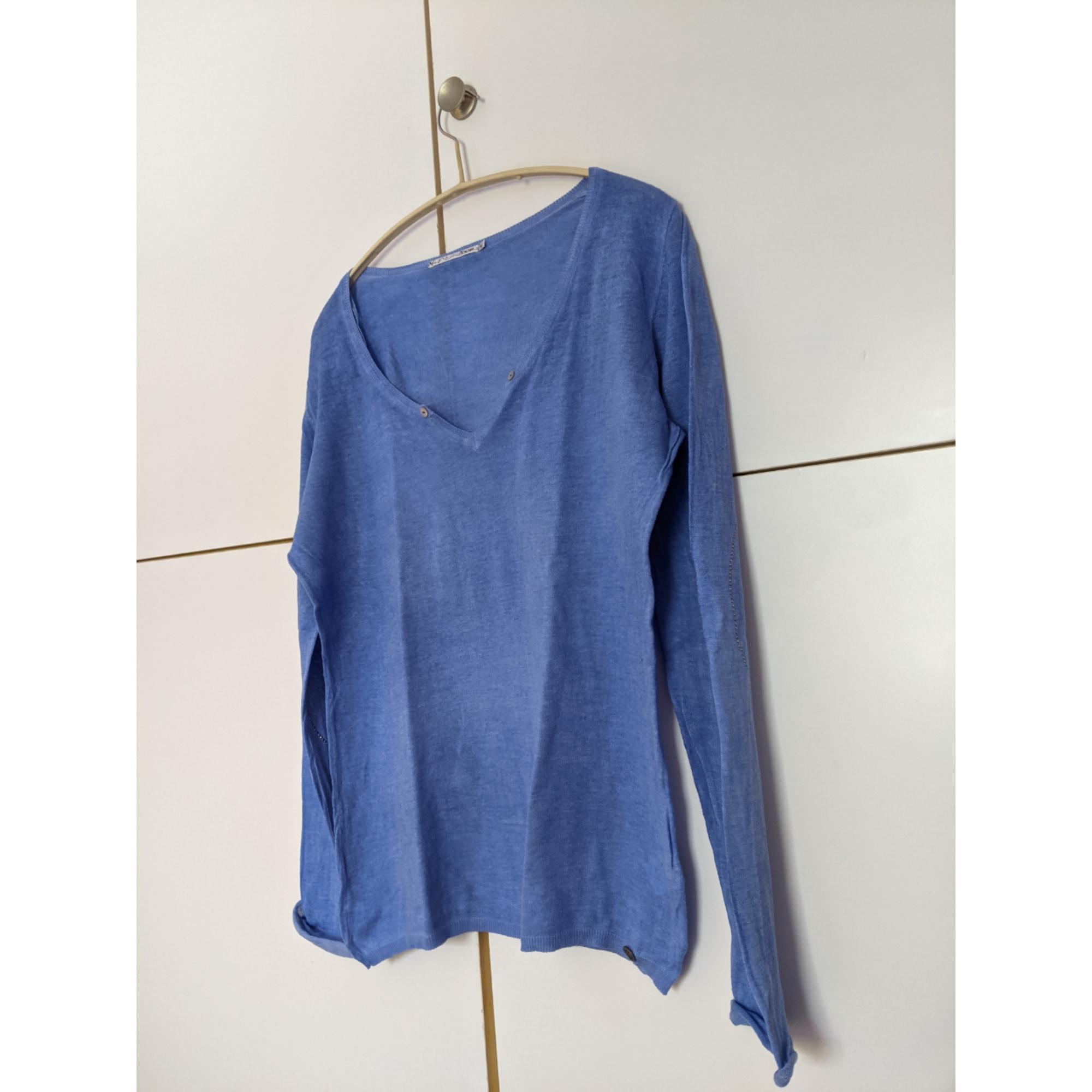 Top, tee-shirt DDP Bleu, bleu marine, bleu turquoise