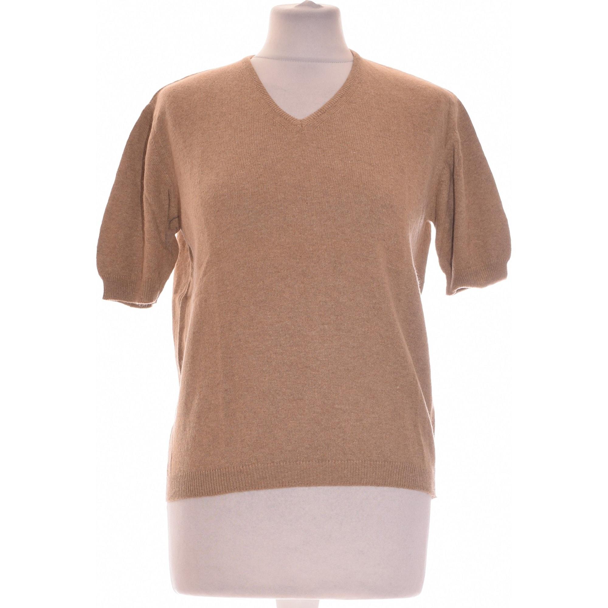 Top, T-shirt ALAIN MANOUKIAN Brown