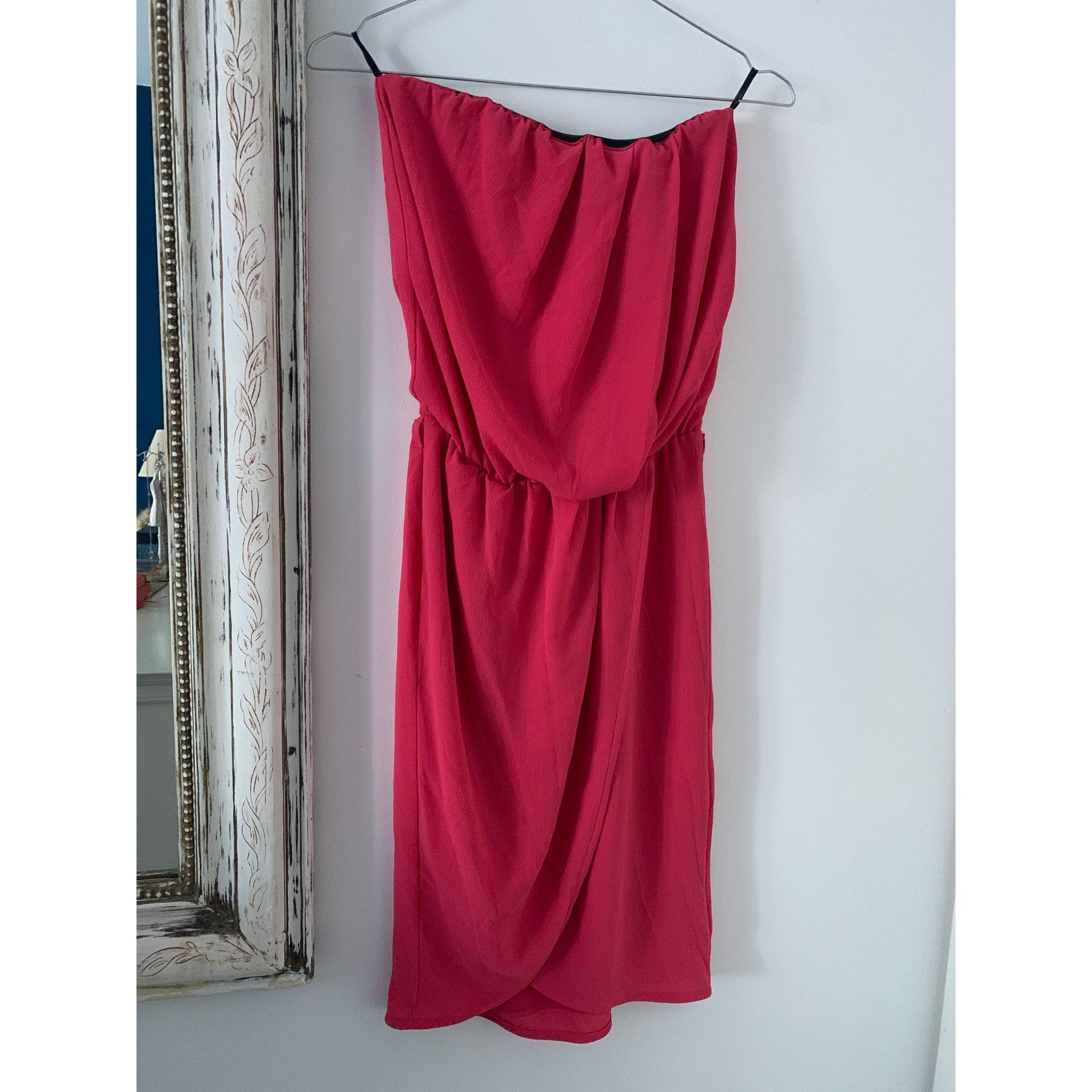 Robe bustier IKKS Rose, fuschia, vieux rose