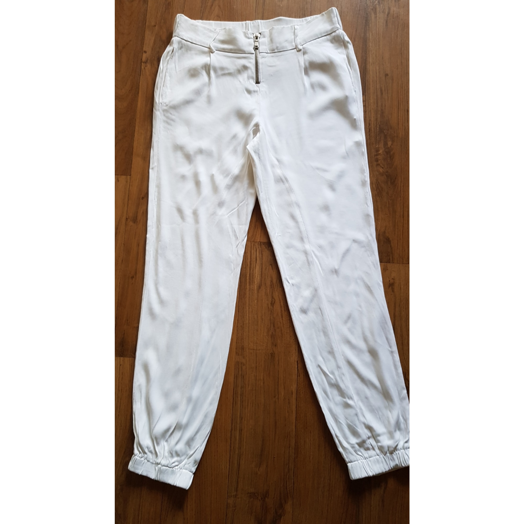 Pantalon carotte BEL AIR Blanc, blanc cassé, écru