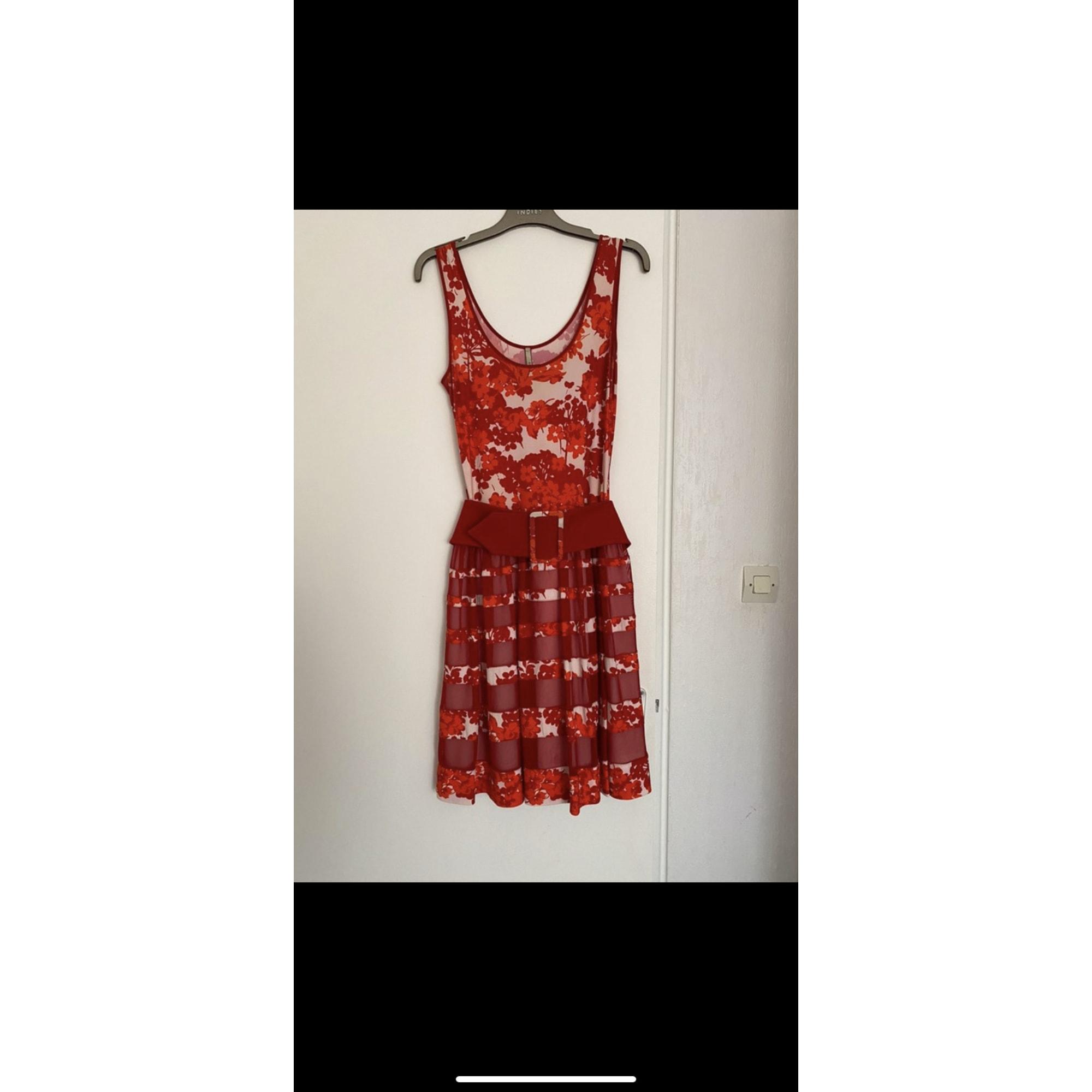 Robe courte INDIES Rouge, bordeaux