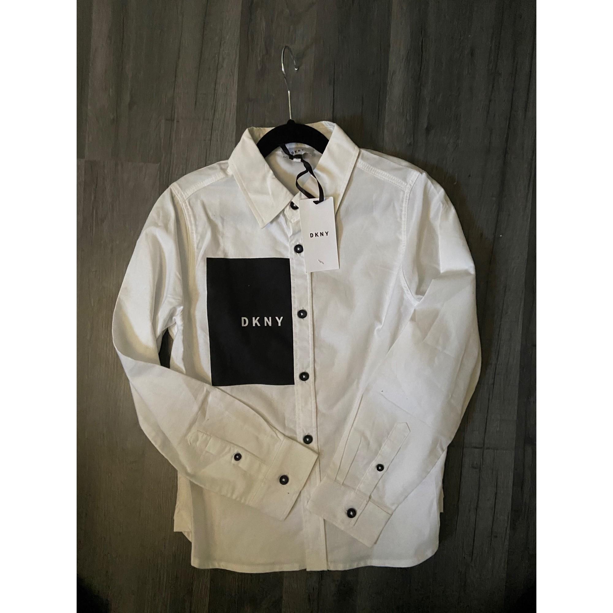 Chemise DKNY Blanc, blanc cassé, écru
