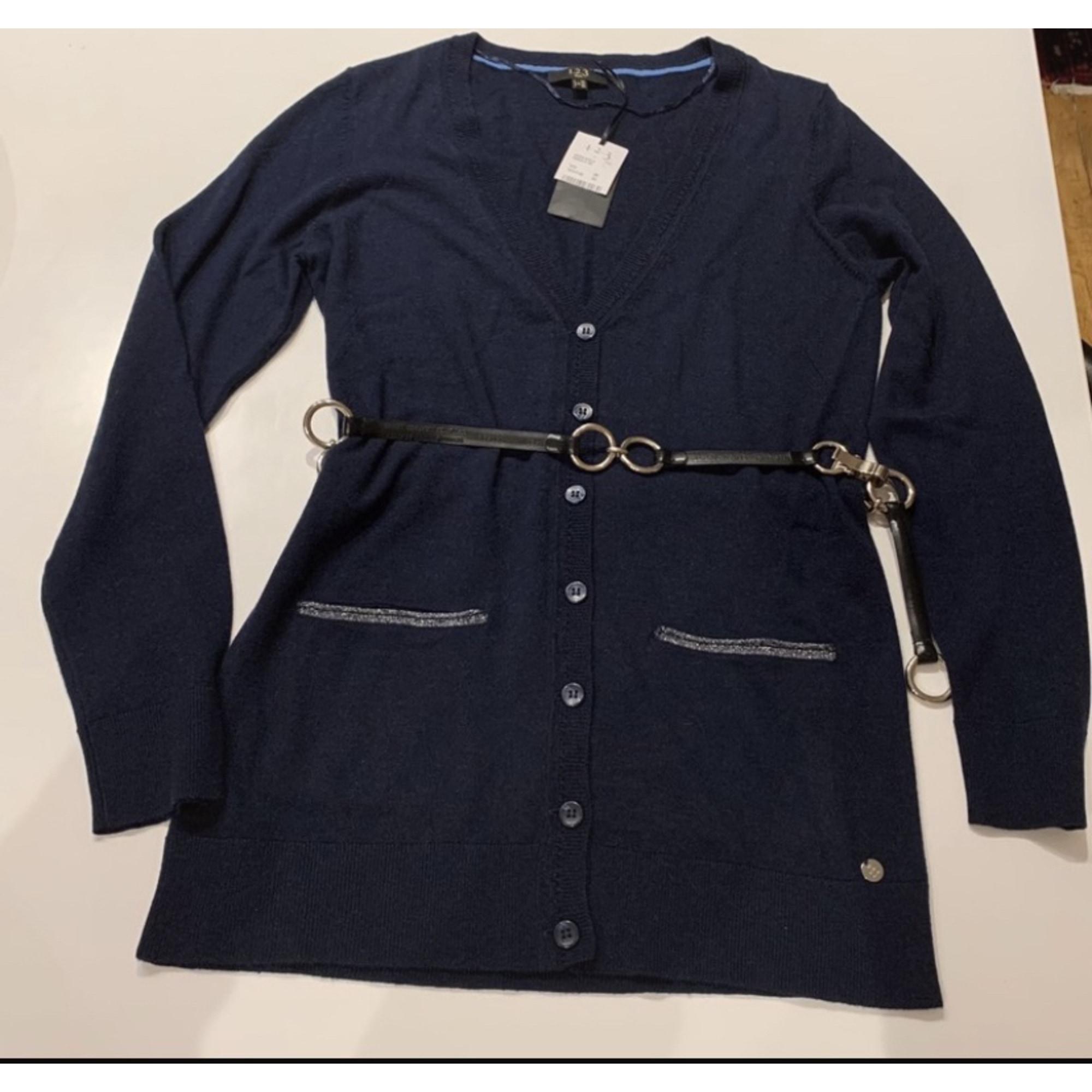 Gilet, cardigan 1.2.3 Bleu, bleu marine, bleu turquoise