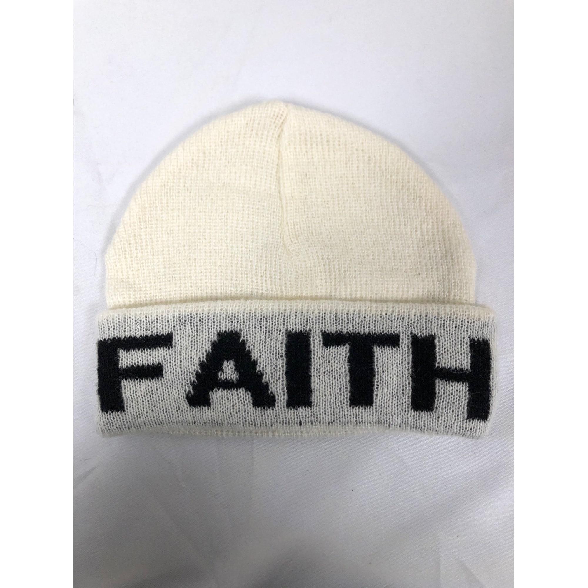 Bonnet FAITH CONNEXION Blanc, blanc cassé, écru