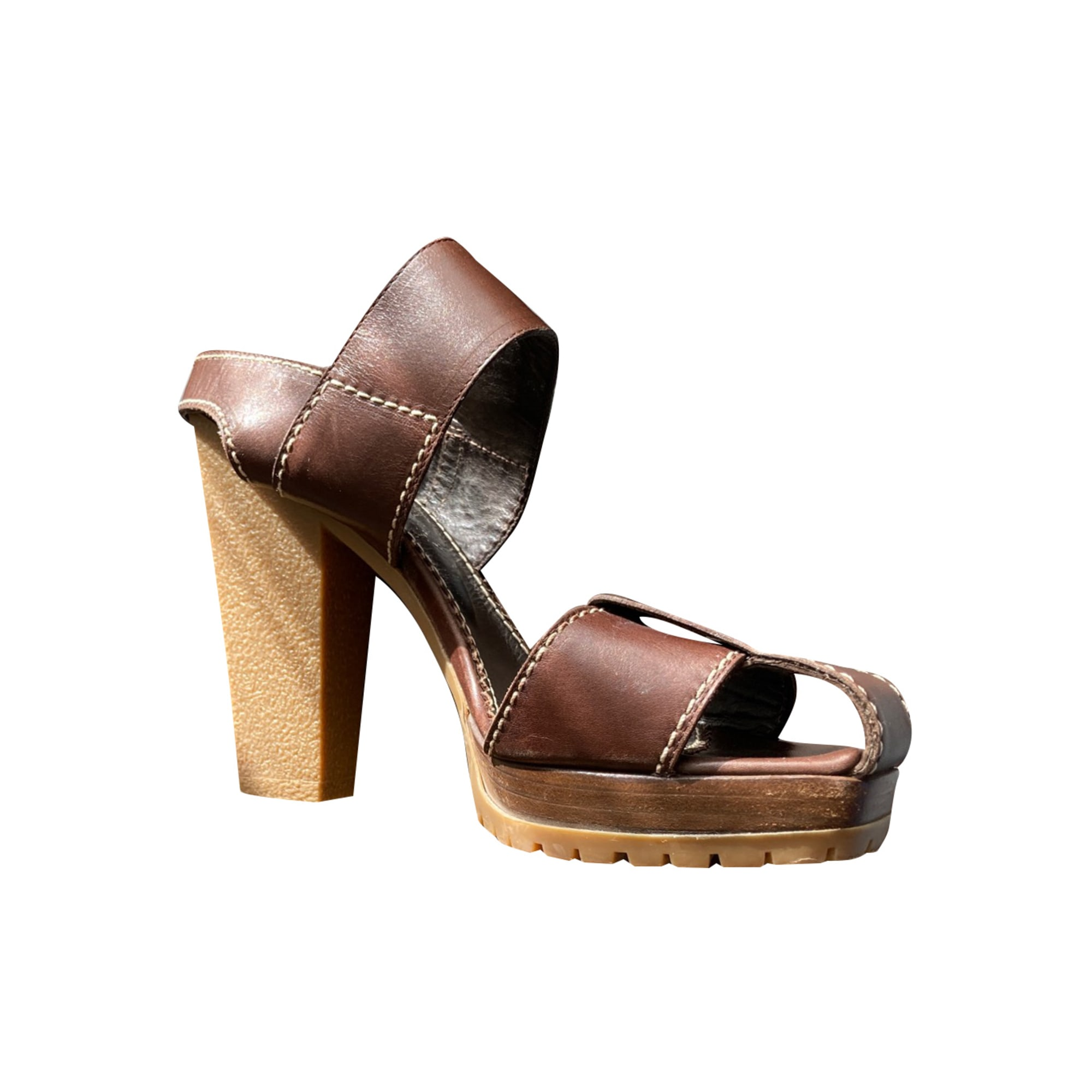 Heeled Sandals YVES SAINT LAURENT Brown