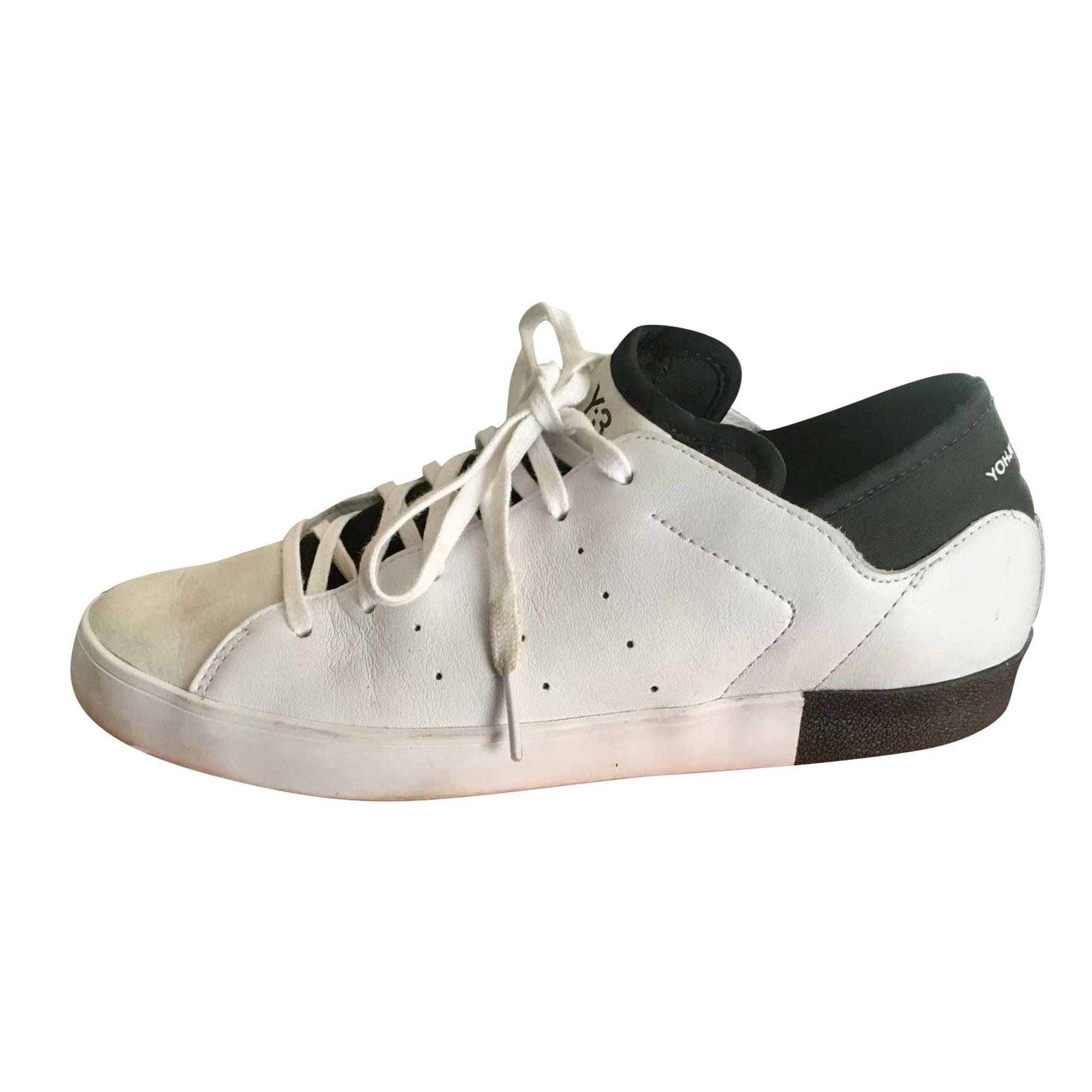 Baskets Y-3 Blanc, blanc cassé, écru