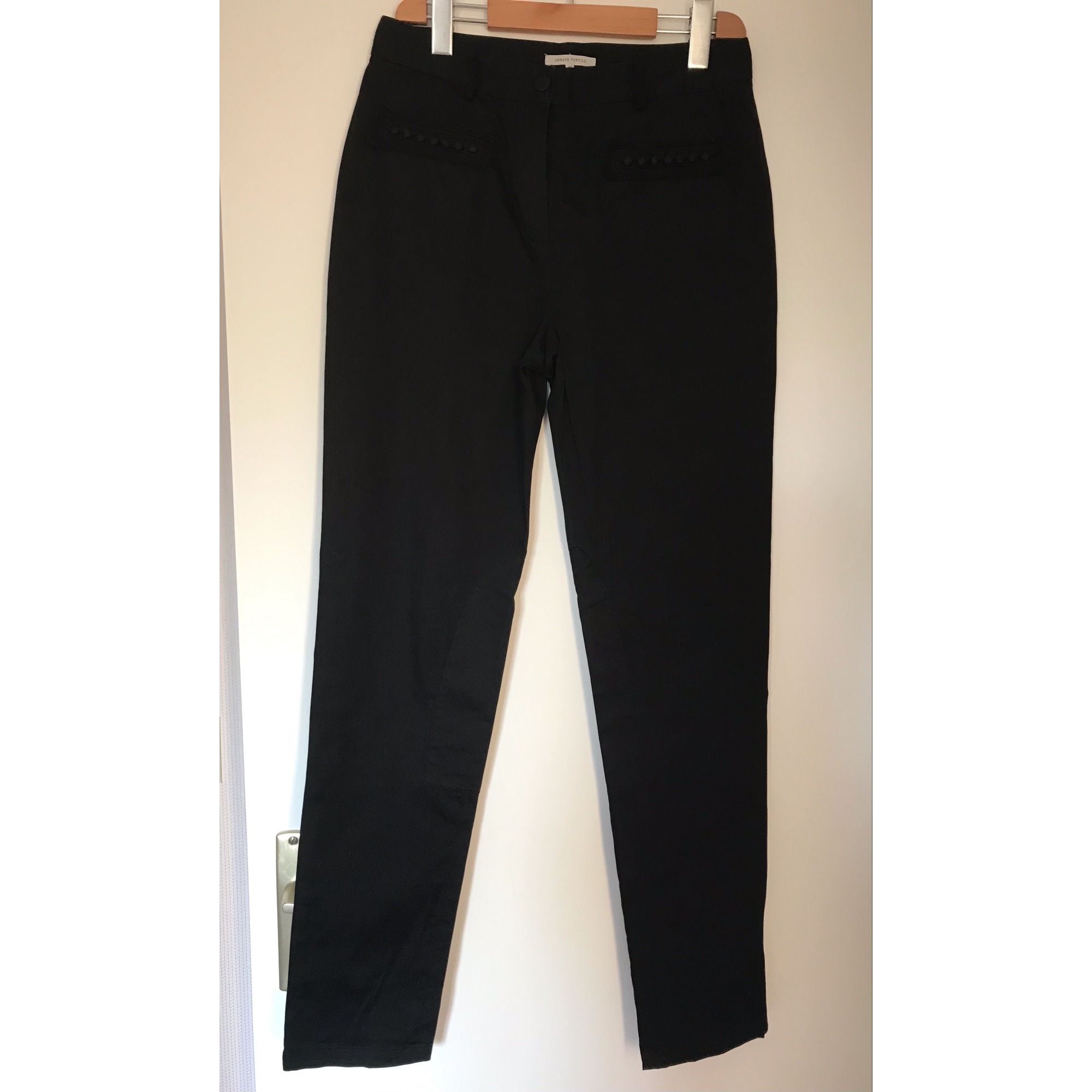 Pantalon slim, cigarette ARMAND VENTILO Noir