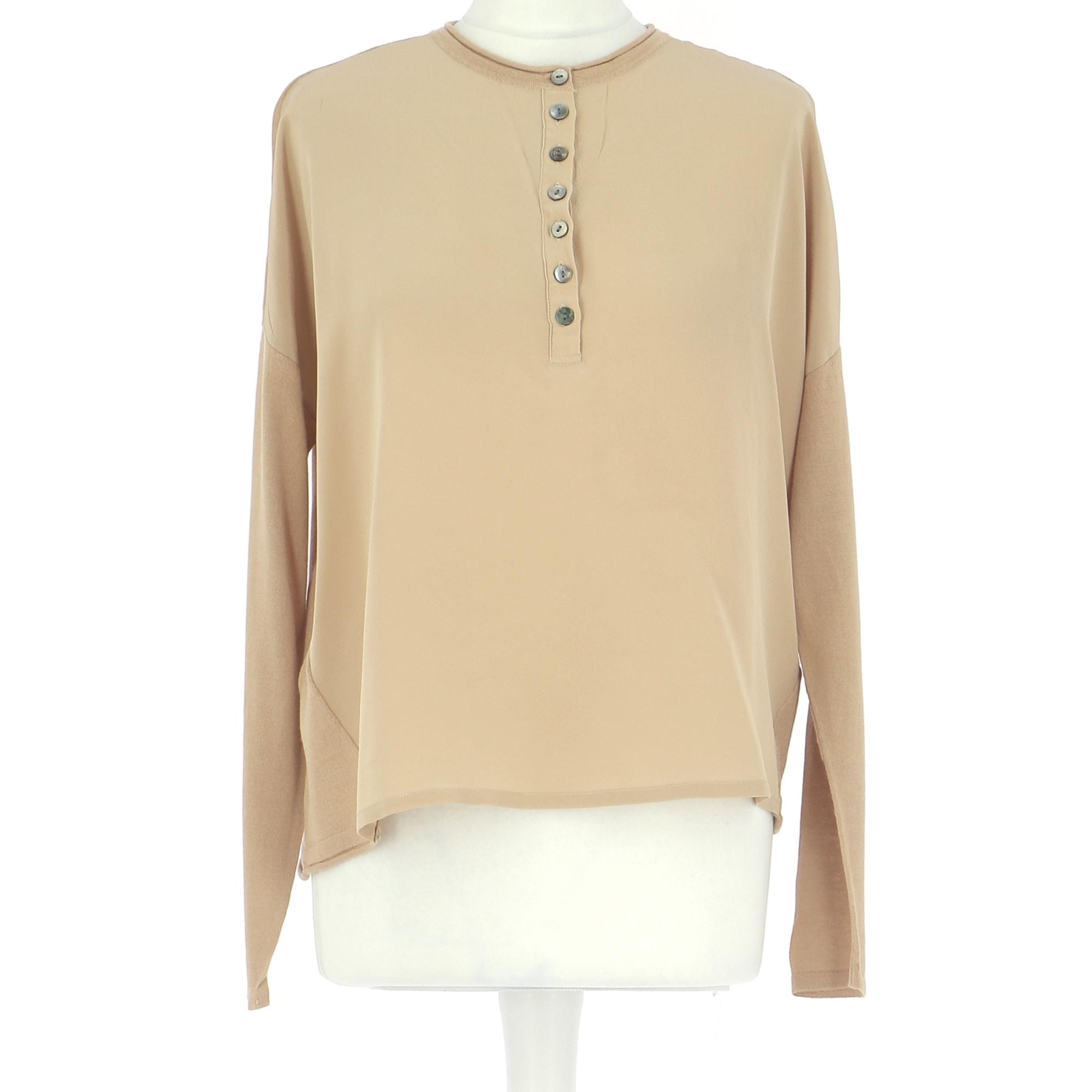 Top, tee-shirt MAX & MOI Beige, camel