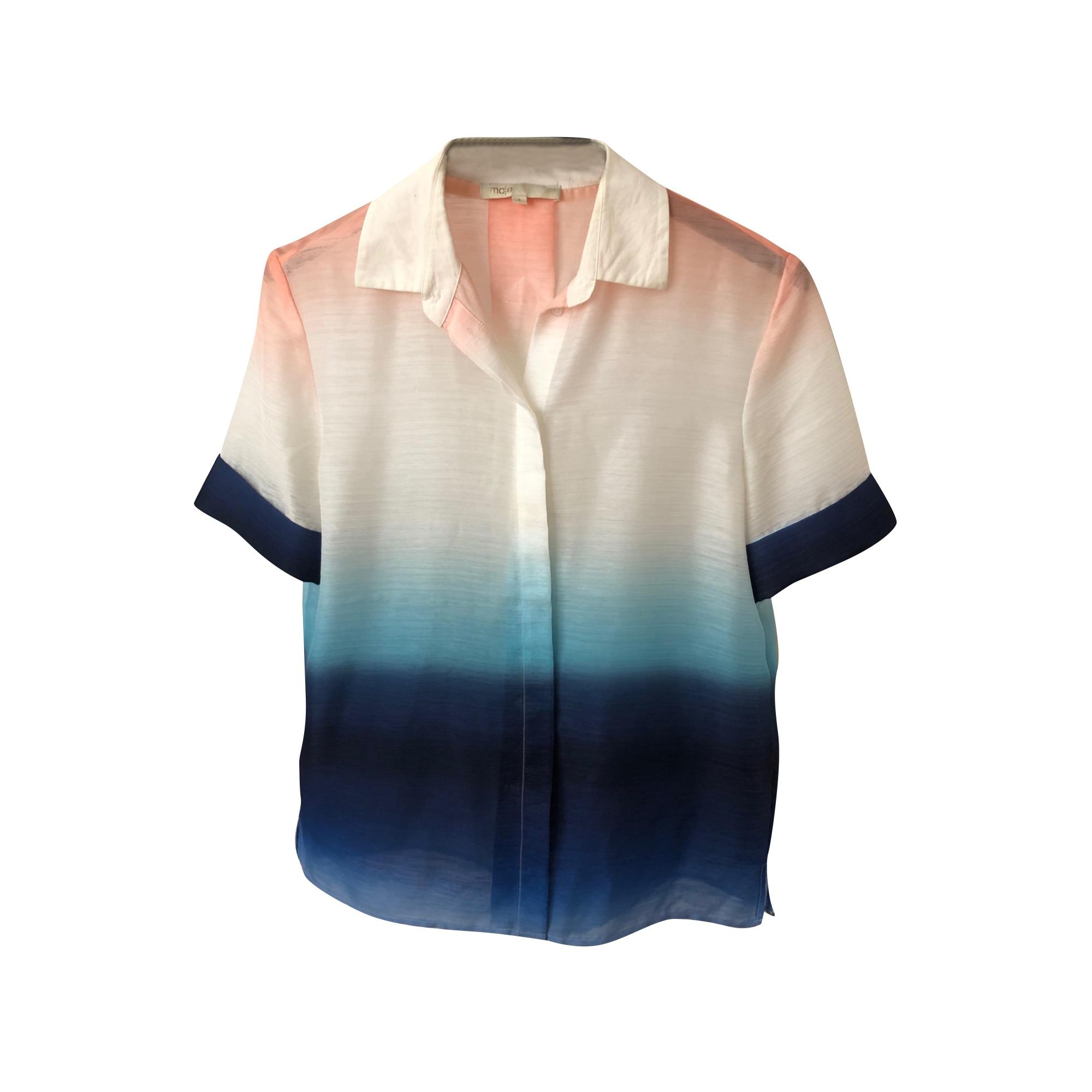 Chemisier MAJE Bleu, bleu marine, bleu turquoise