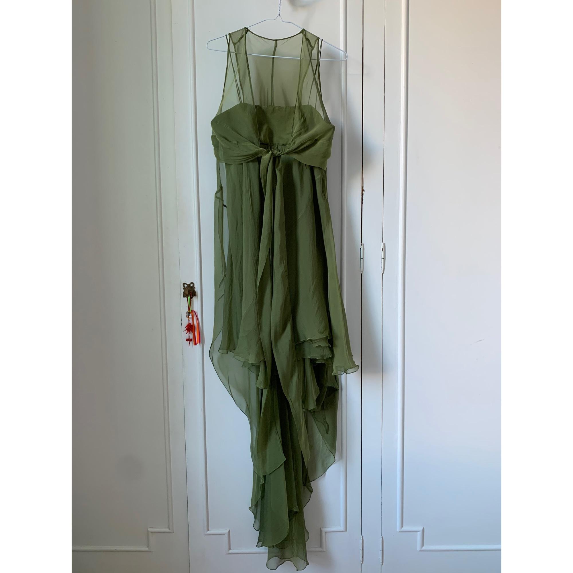 Robe mi-longue ALBERTA FERRETTI Vert