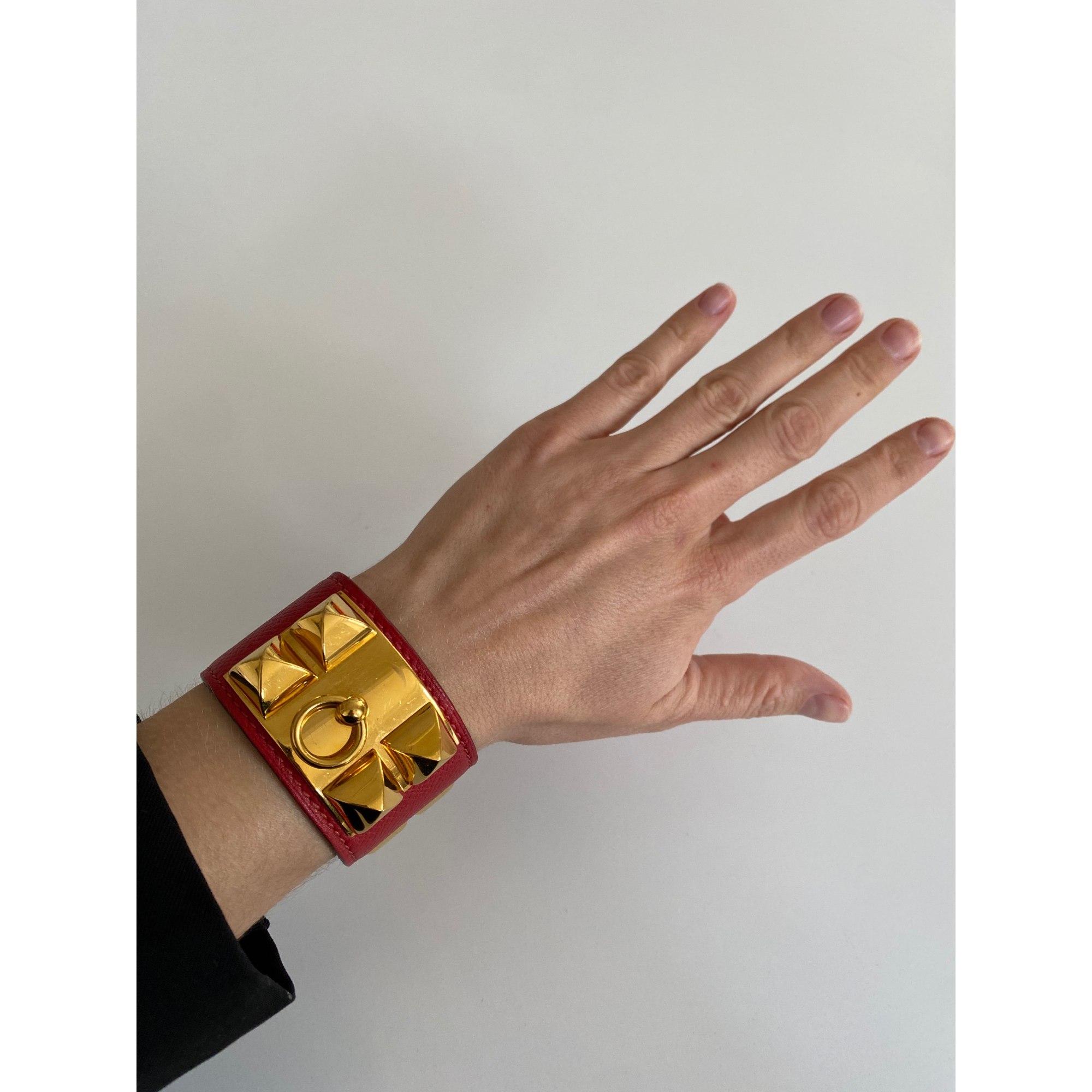 Bracelet HERMÈS Collier de Chien Rouge, bordeaux