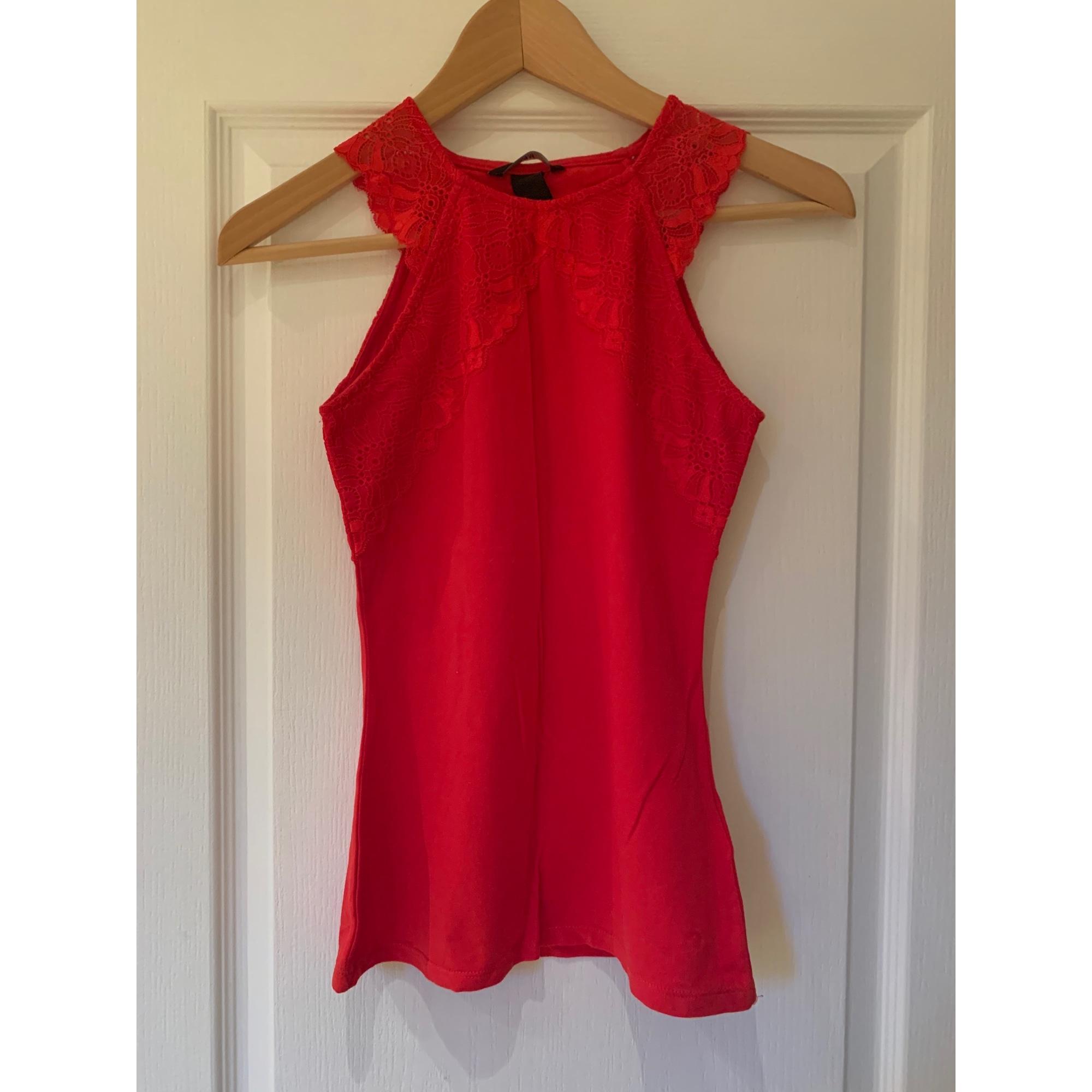 Top, tee-shirt H&M Rouge, bordeaux