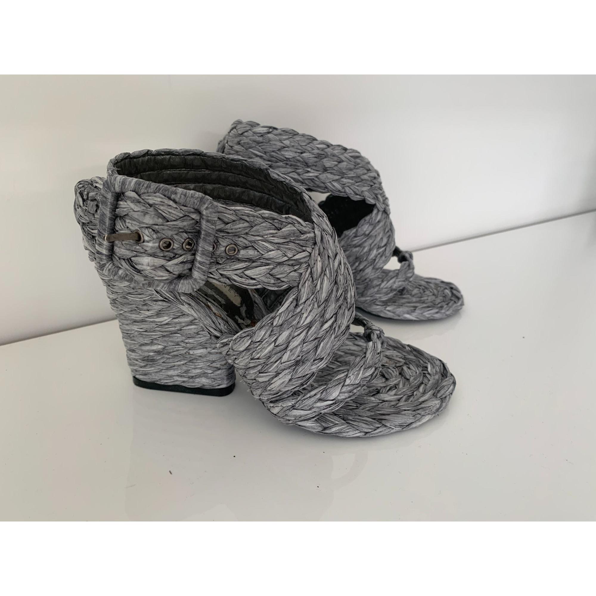 Sandales à talons STELLA MCCARTNEY Gris, anthracite