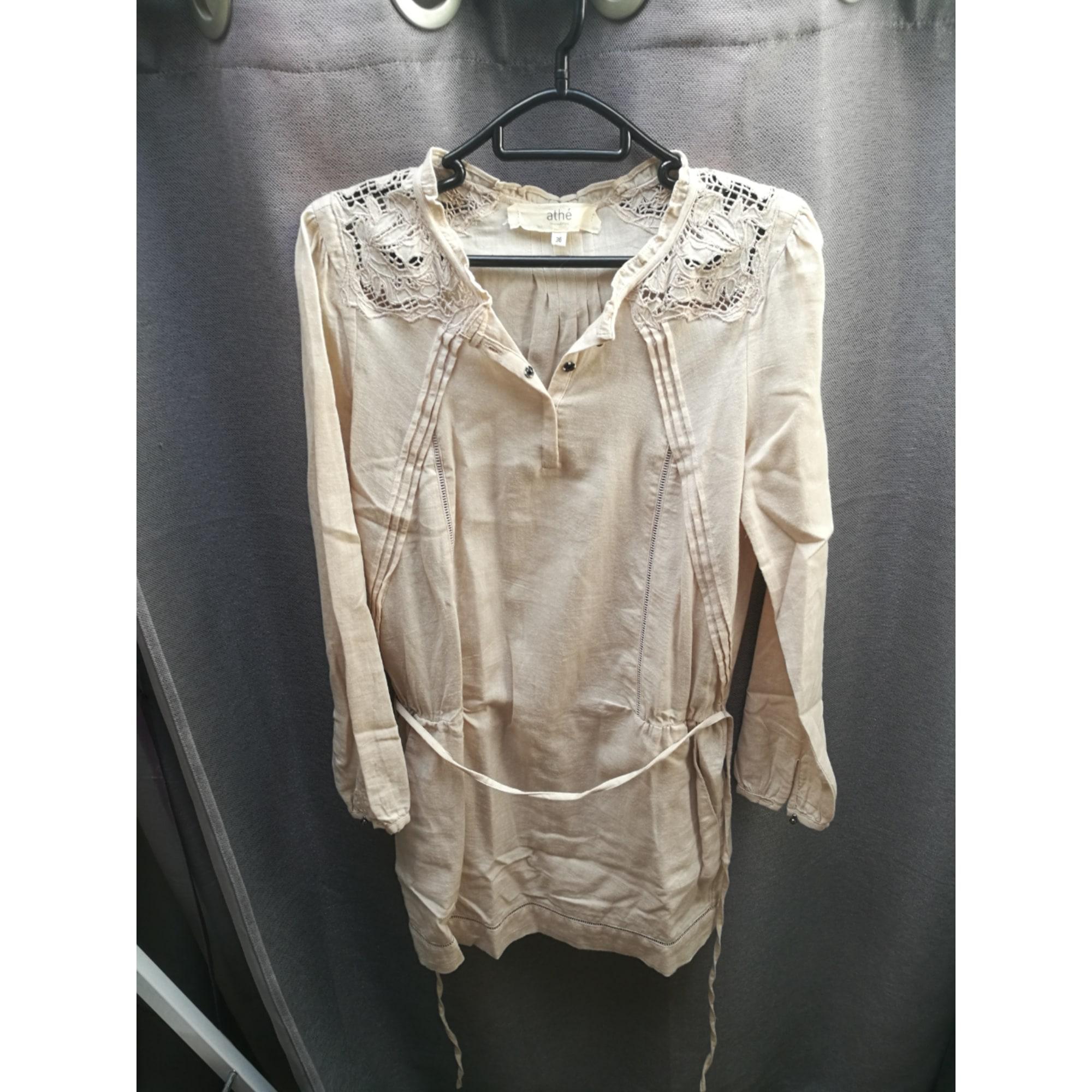 Robe tunique ATHÉ VANESSA BRUNO Blanc, blanc cassé, écru