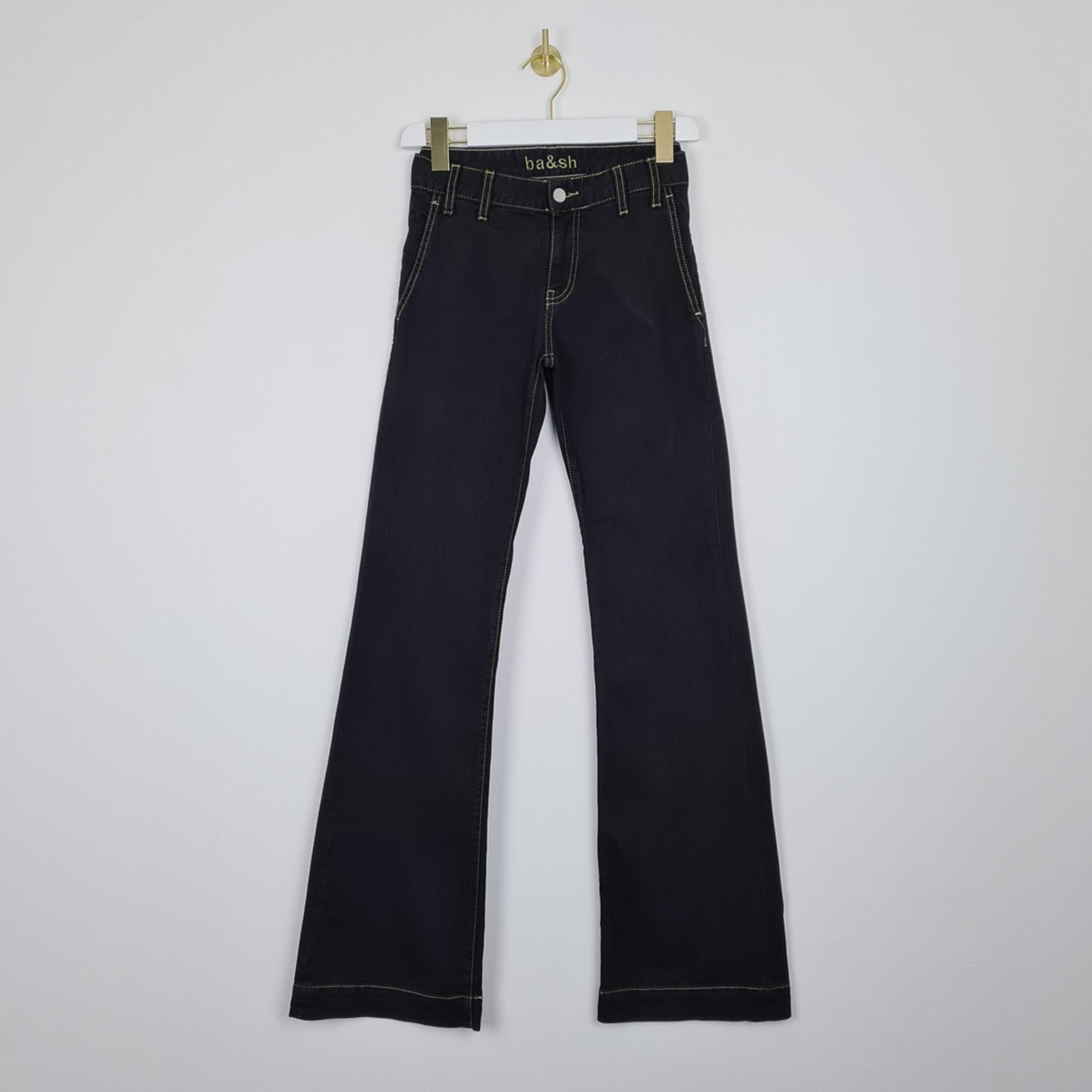 Jeans évasé, boot-cut BA&SH Noir