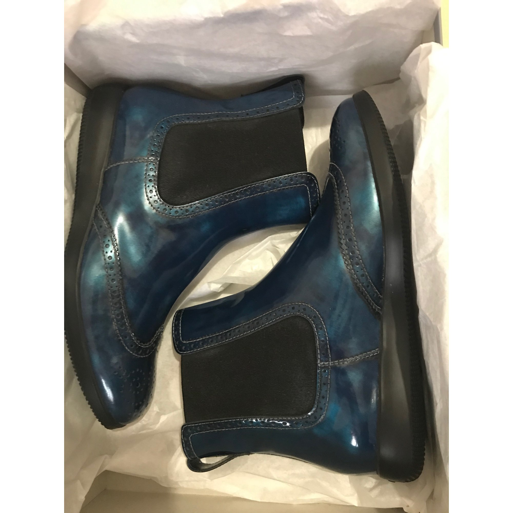 Bottines & low boots plates HOGAN Bleu, bleu marine, bleu turquoise
