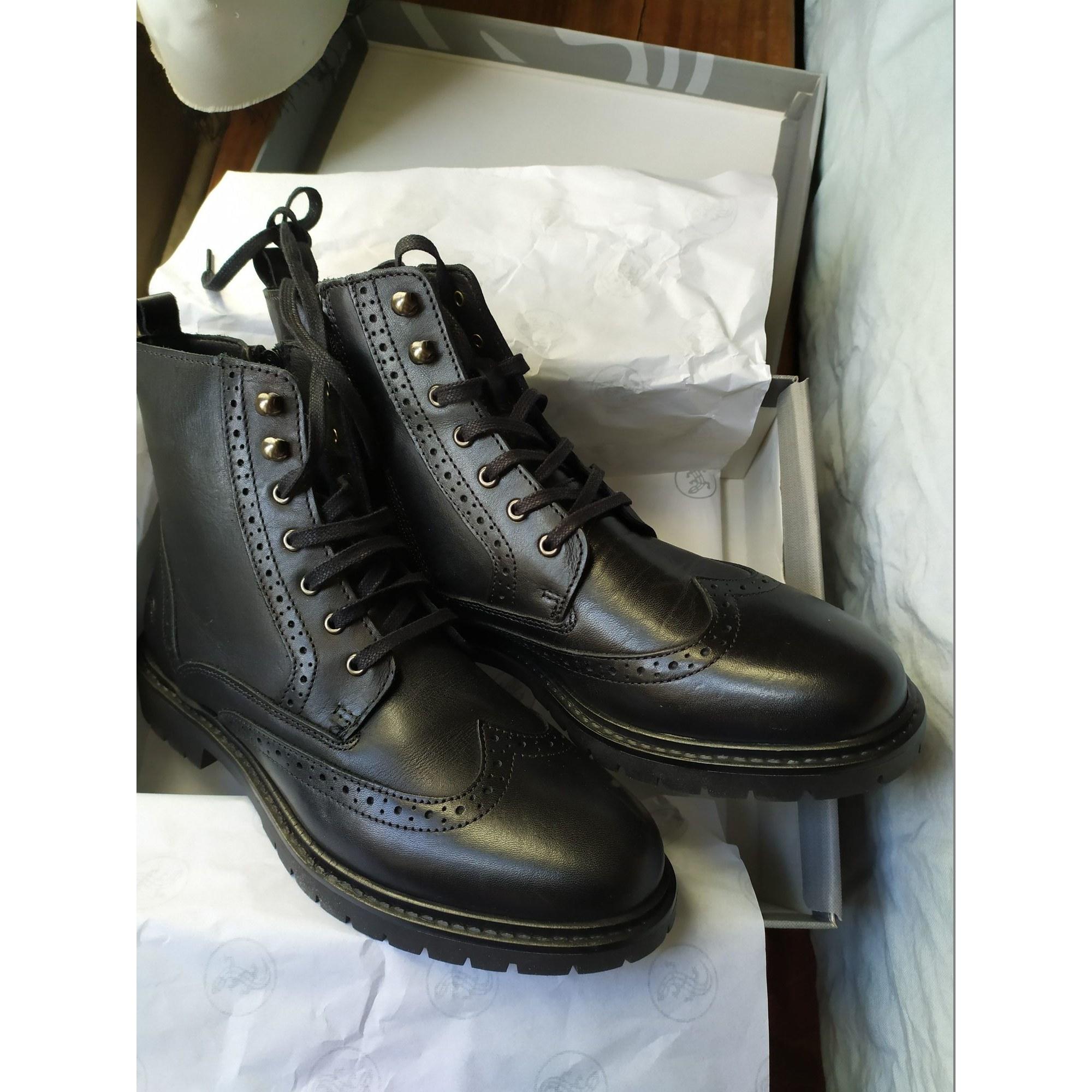 Bottines & low boots plates SALAMANDER Noir