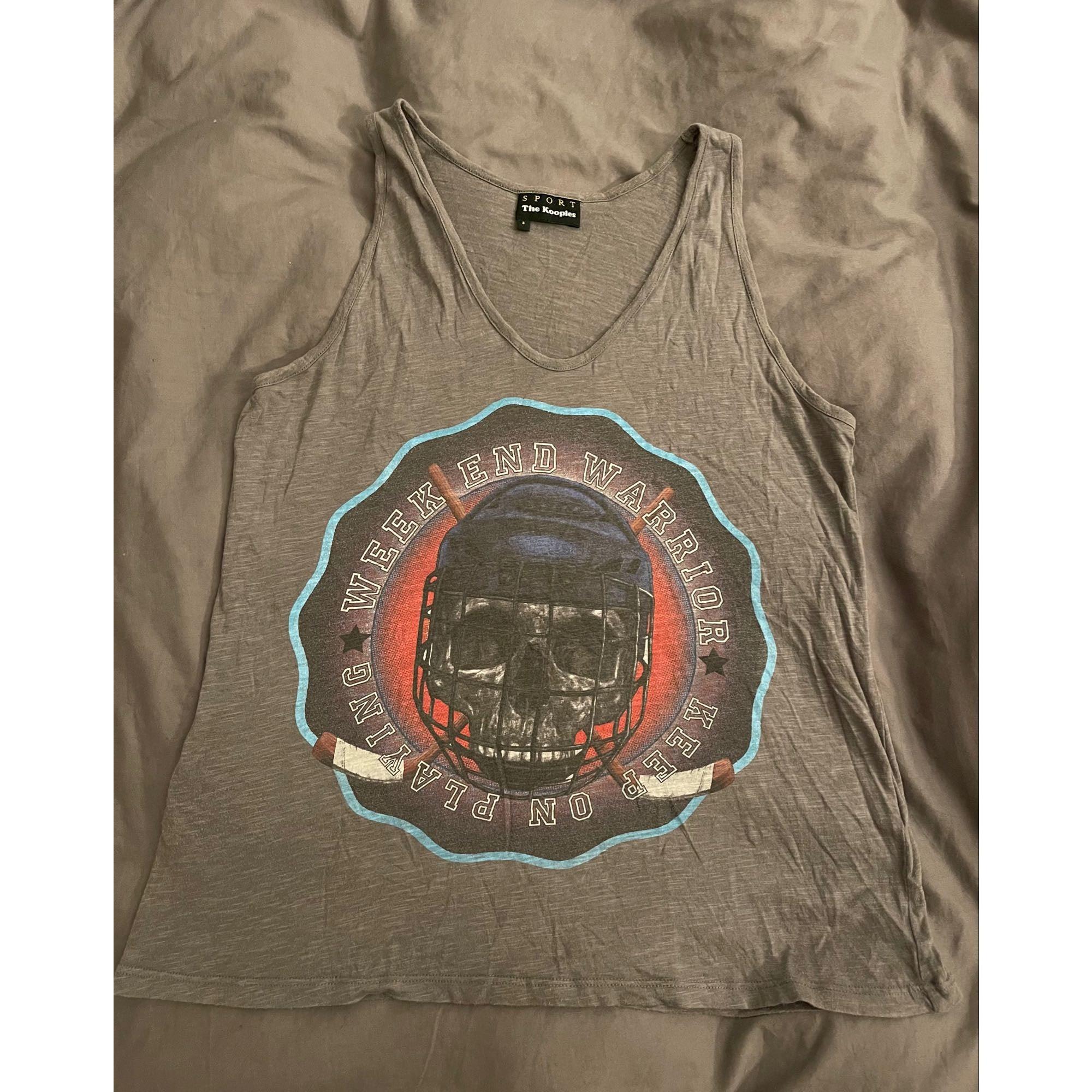 Top, tee-shirt THE KOOPLES Argenté, acier