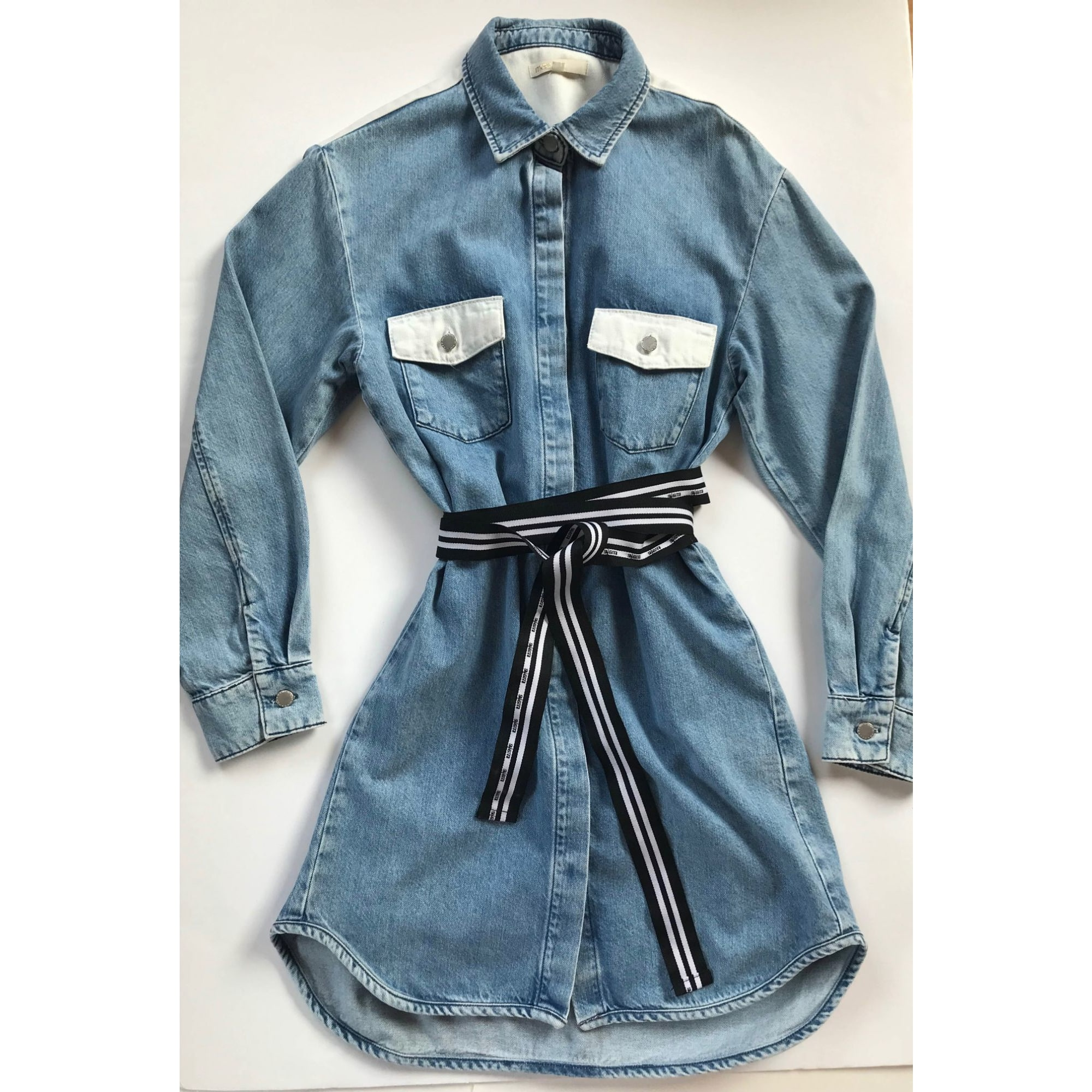 Robe en jeans MAJE Bleu, bleu marine, bleu turquoise