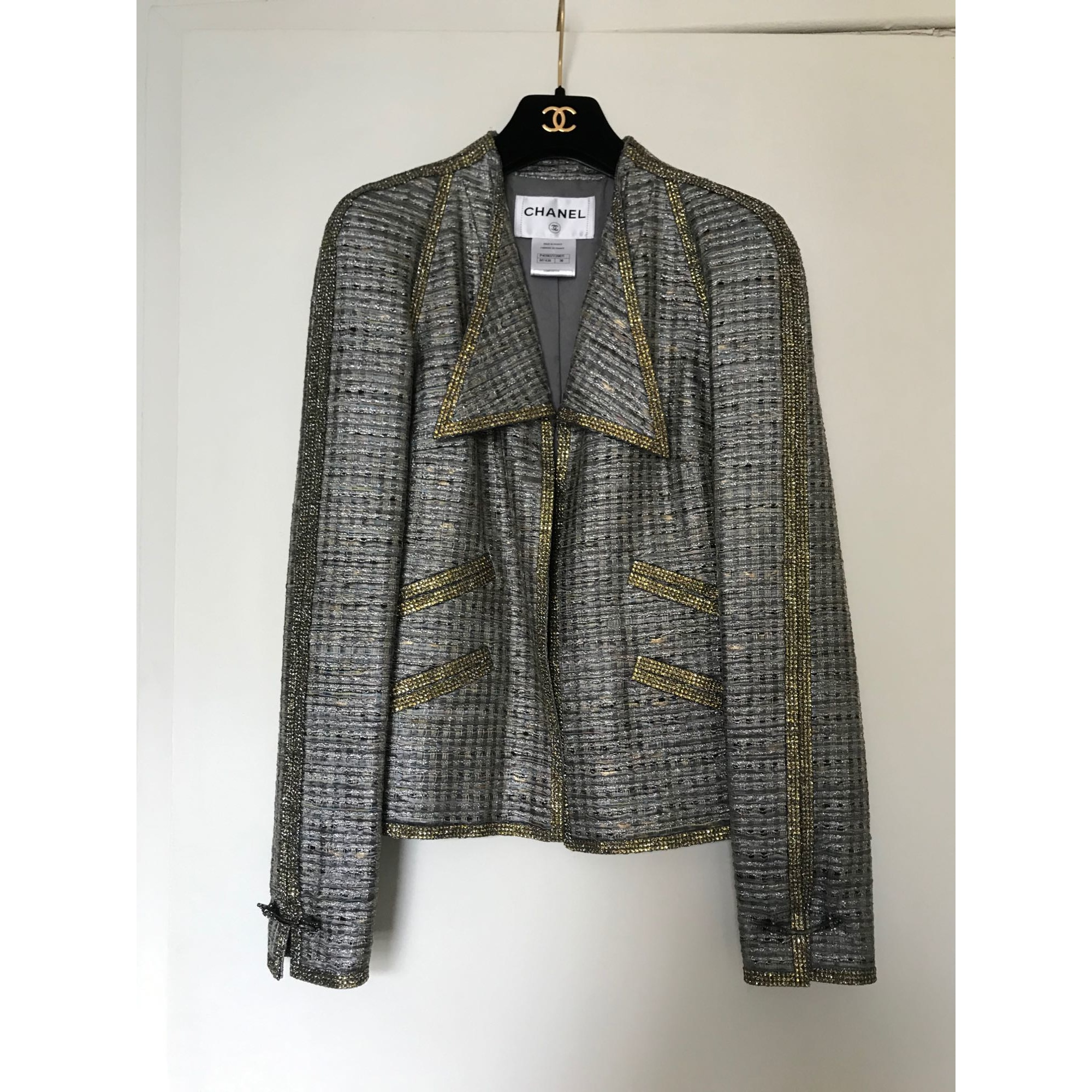 Blazer, veste tailleur CHANEL Gris, anthracite