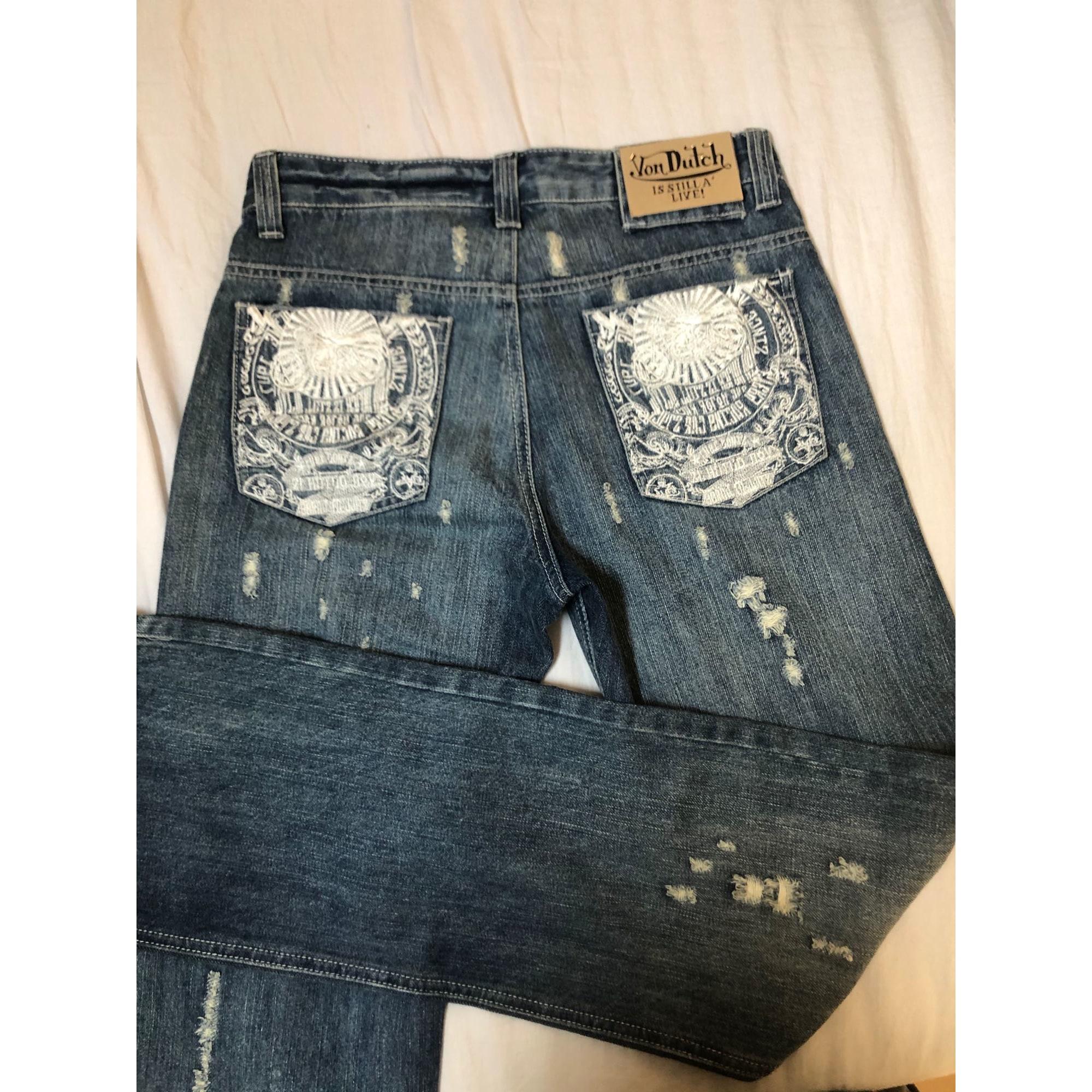 Jeans droit VON DUTCH Bleu, bleu marine, bleu turquoise