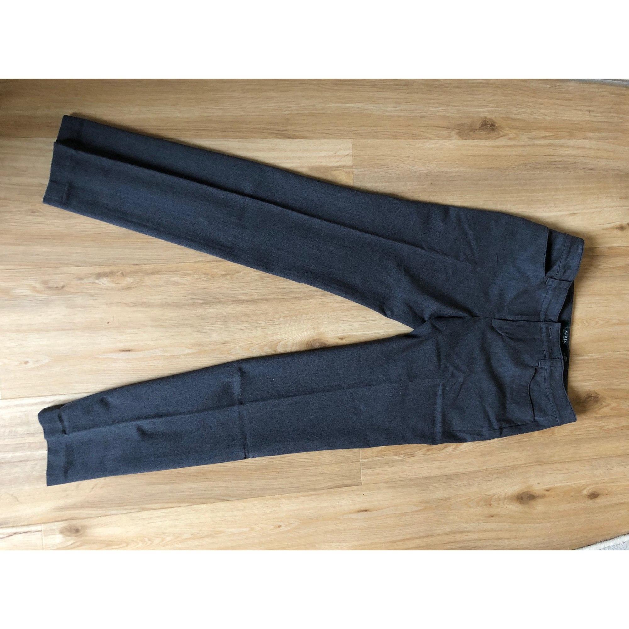 Pantalon droit RALPH LAUREN Gris, anthracite