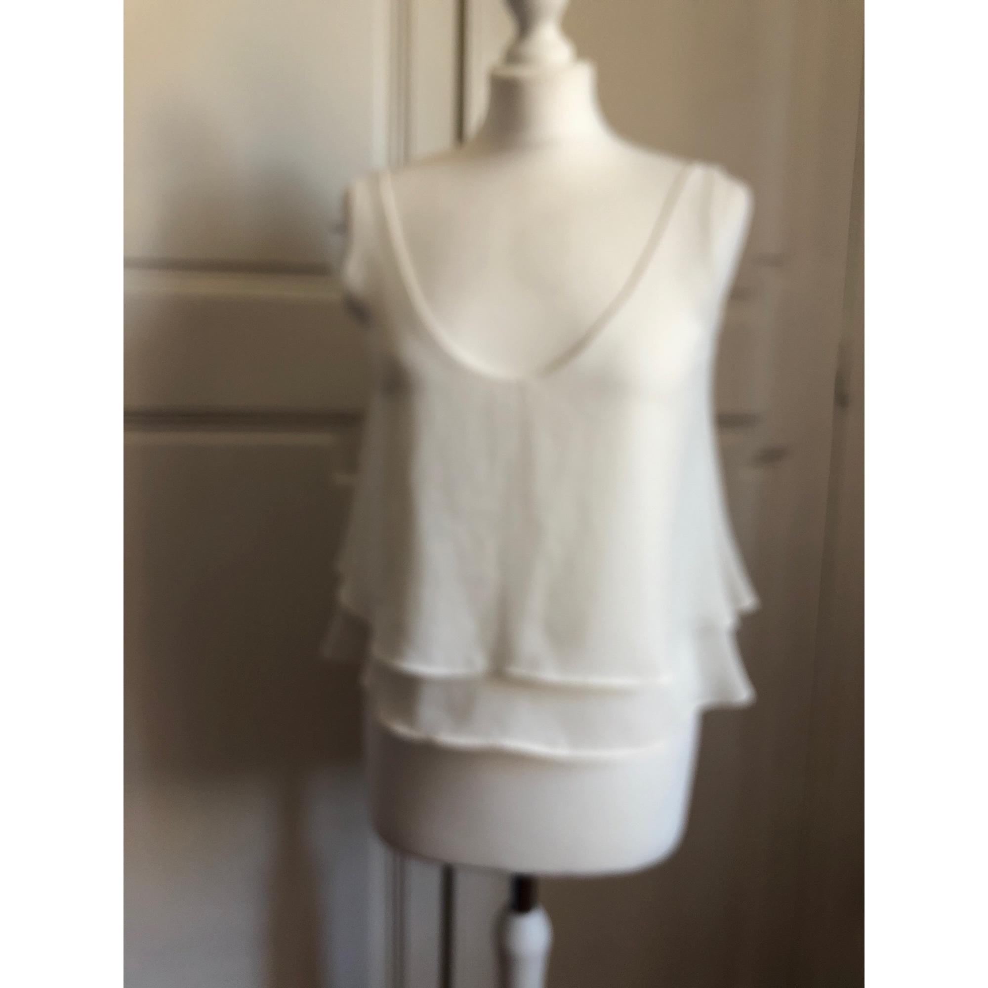 Top, tee-shirt PULL & BEAR Blanc, blanc cassé, écru